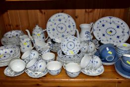 PART DINNER SERVICE IN THE 'DENMARK' PATTERN, consisting of Masons and Furnivals backstamps, to