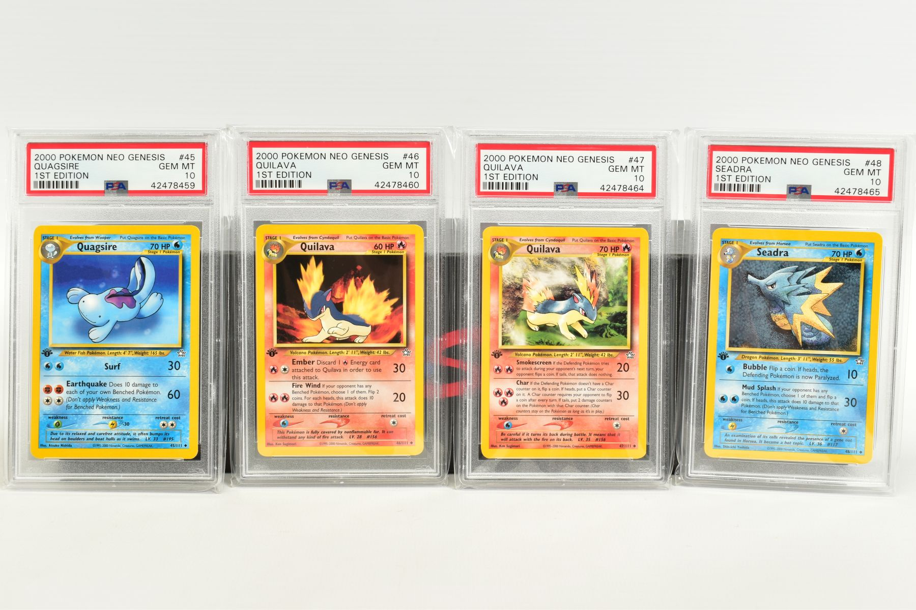 A QUANTITY OF PSA GRADED POKEMON 1ST EDITION NEO GENESIS SET CARDS, all are graded GEM MINT 10 and - Image 8 of 24