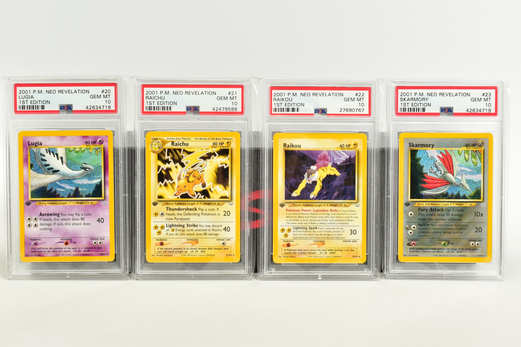 A QUANTITY OF PSA GRADED POKEMON 1ST EDITION NEO REVELATION SET CARDS, all are graded GEM MINT 10 - Image 4 of 14
