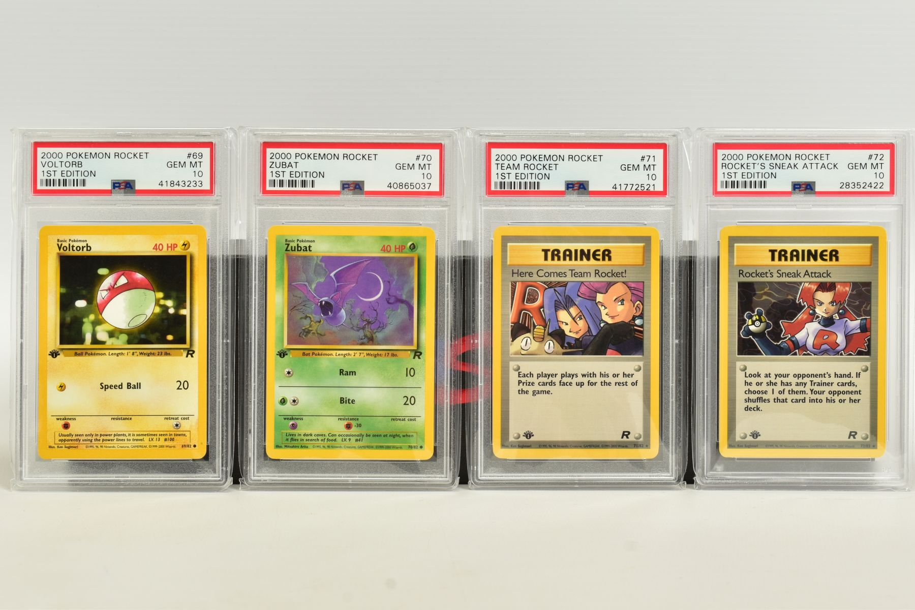 A QUANTITY OF PSA GRADED POKEMON 1ST EDITION TEAM ROCKET SET CARDS, cards number 47 to 82, Pre - Image 7 of 11