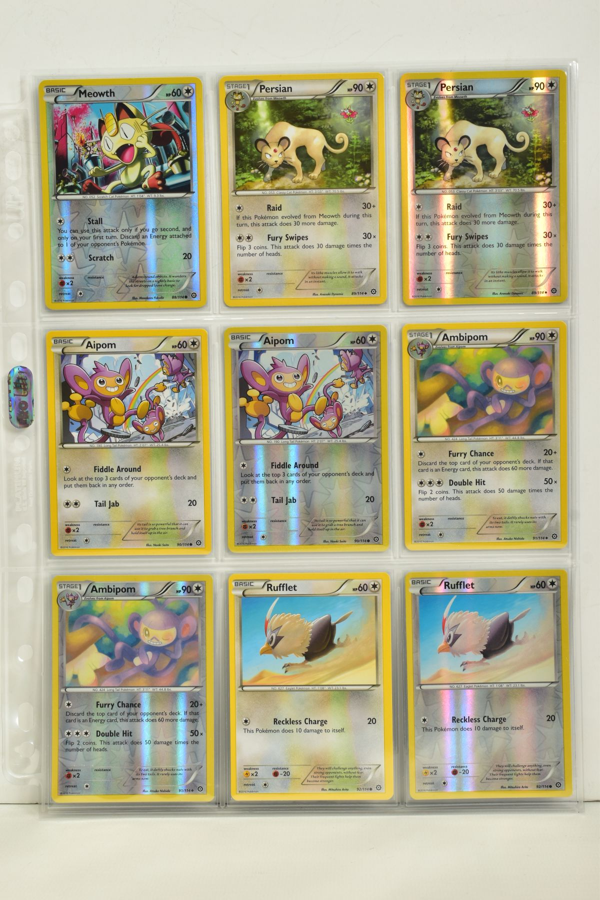A COLLECTION OF ASSORTED POKEMON CARDS, to include complete master sets of XY Steam Siege, XY - Image 80 of 87
