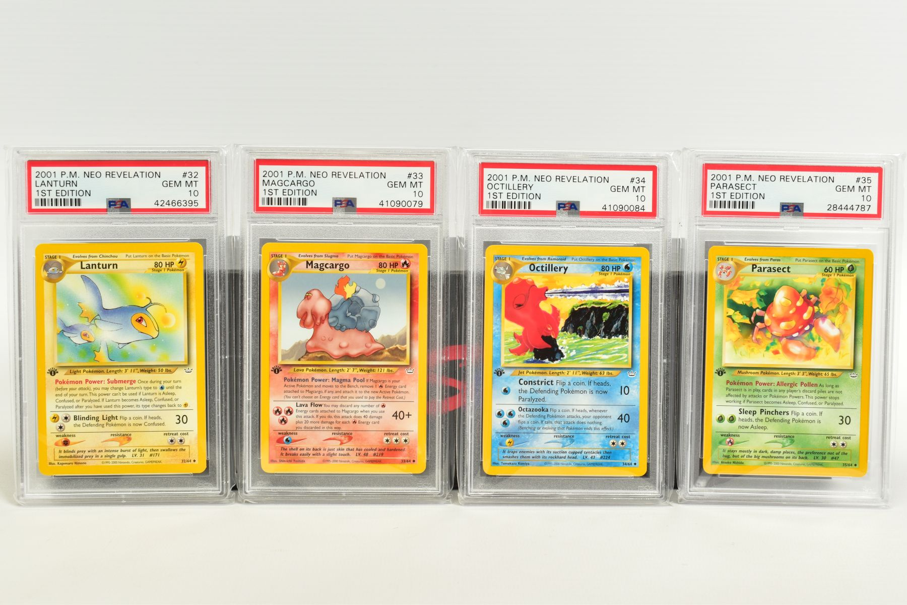A QUANTITY OF PSA GRADED POKEMON 1ST EDITION NEO REVELATION SET CARDS, all are graded GEM MINT 10 - Image 7 of 14