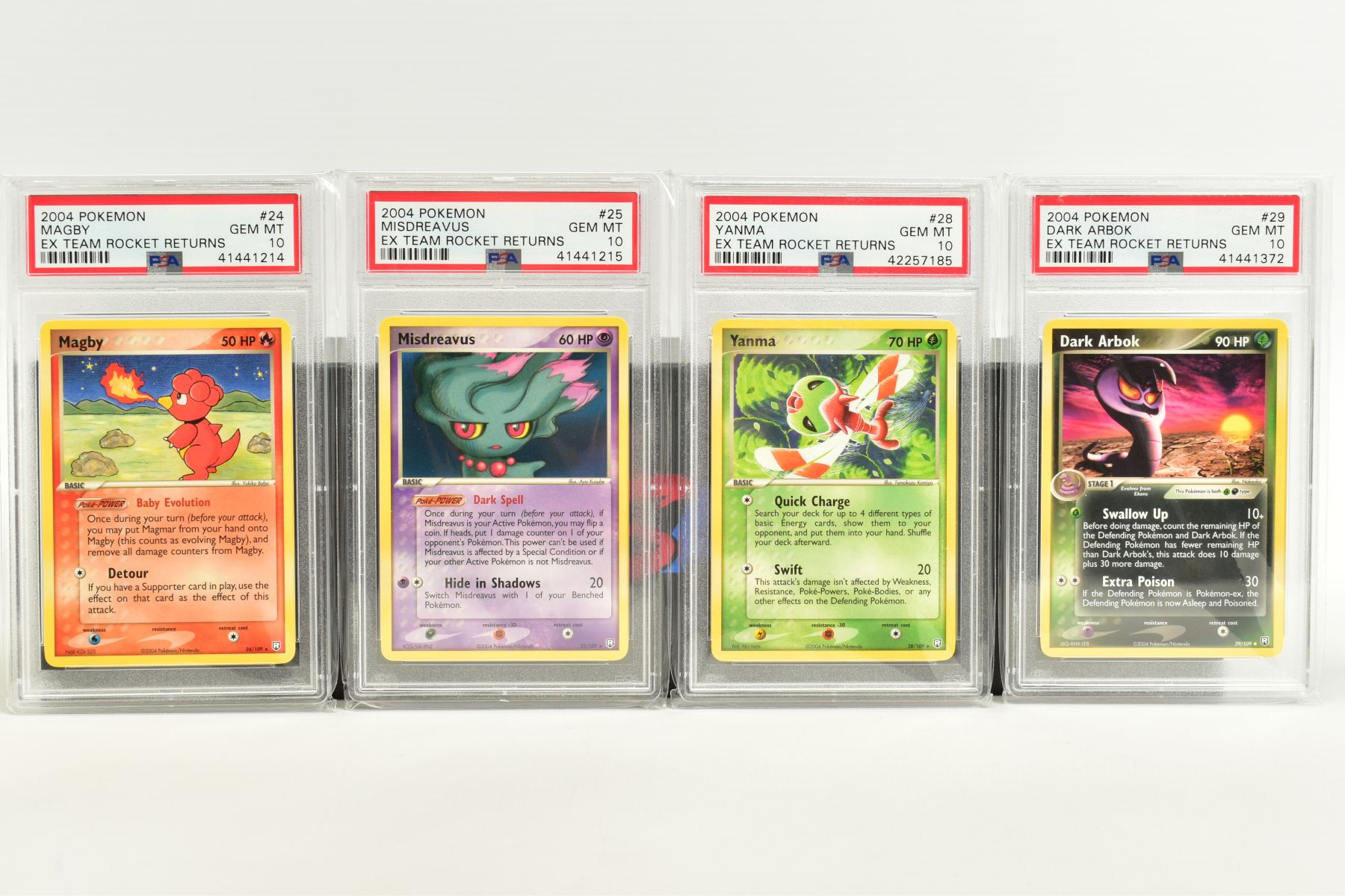A QUANTITY OF PSA GRADED POKEMON EX TEAM ROCKET RETURNS AND EX RUBY & SAPPHIRE SET CARDS, all are - Image 4 of 15