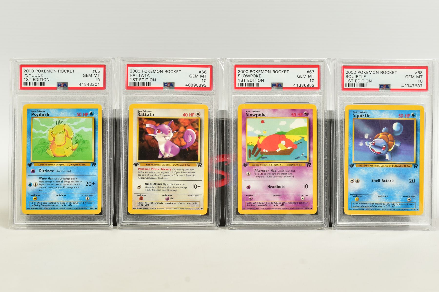 A QUANTITY OF PSA GRADED POKEMON 1ST EDITION TEAM ROCKET SET CARDS, cards number 47 to 82, Pre - Image 6 of 11