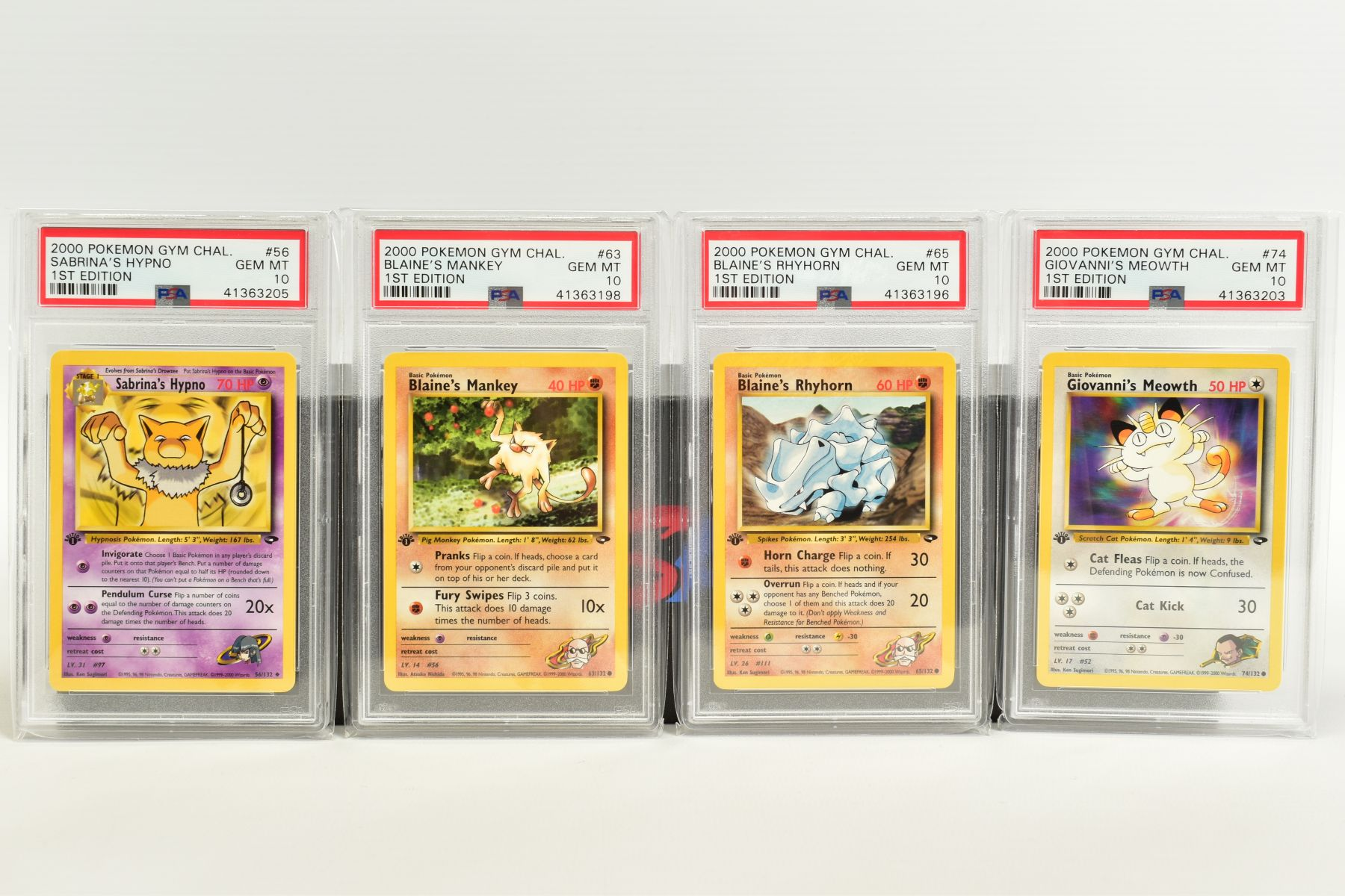 A QUANTITY OF PSA GRADED POKEMON 1ST EDITION GYM HEROES AND GYM CHALLENGE SET CARDS, all are - Image 5 of 12