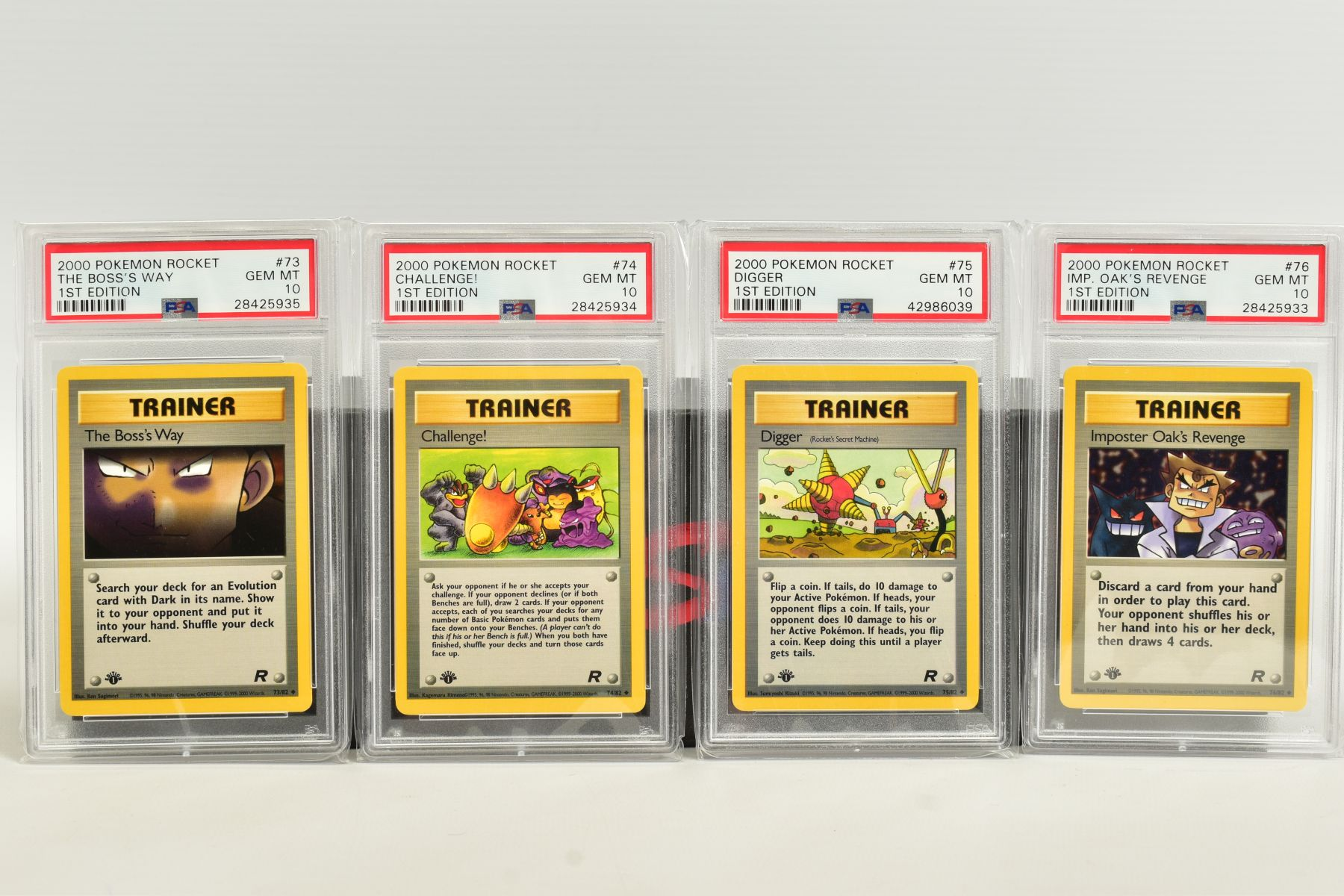 A QUANTITY OF PSA GRADED POKEMON 1ST EDITION TEAM ROCKET SET CARDS, cards number 47 to 82, Pre - Image 8 of 11