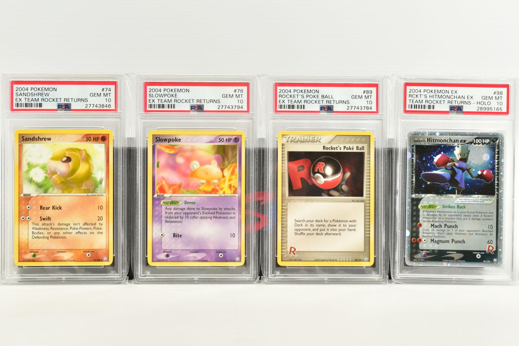 A QUANTITY OF PSA GRADED POKEMON EX TEAM ROCKET RETURNS AND EX RUBY & SAPPHIRE SET CARDS, all are - Image 9 of 15