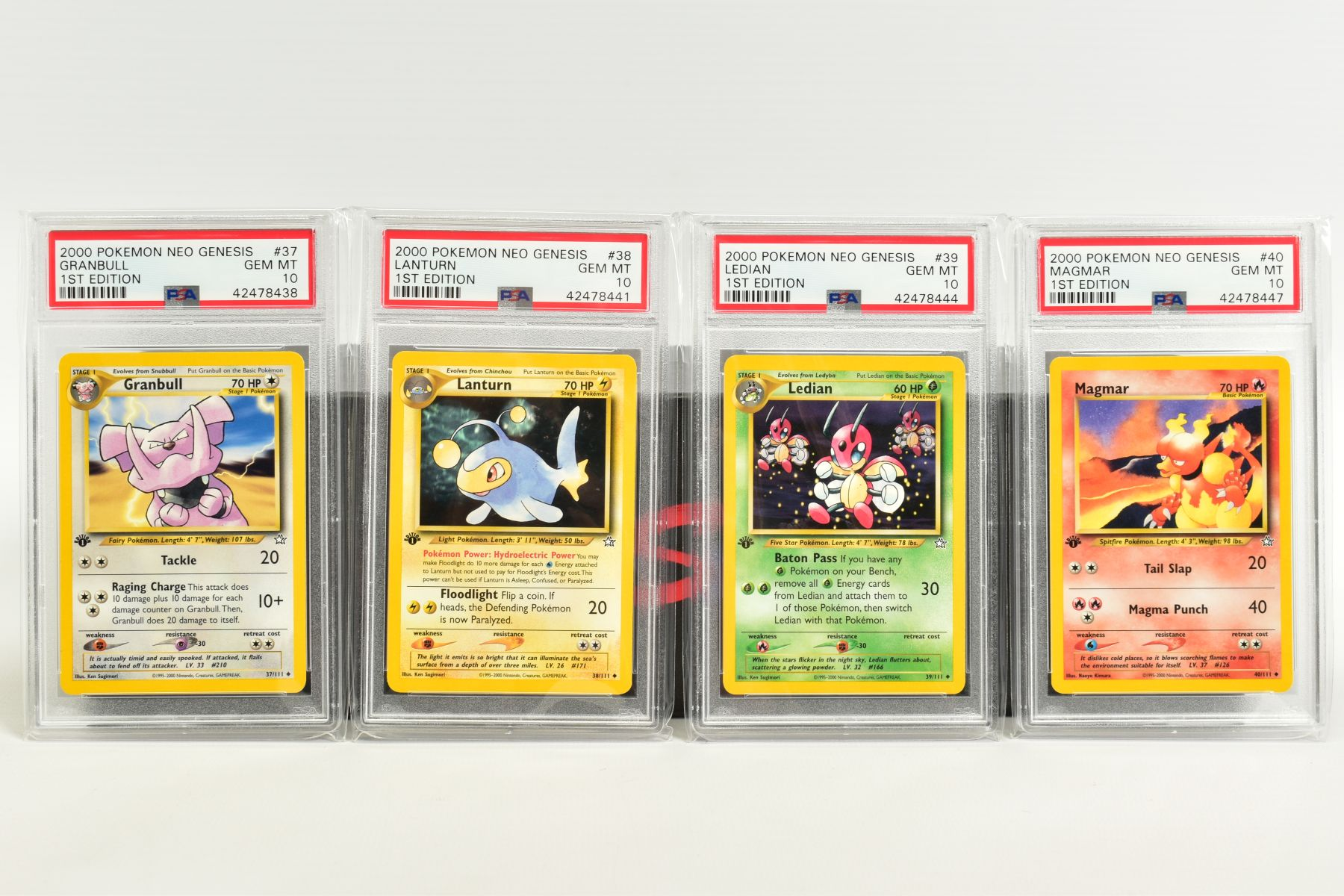 A QUANTITY OF PSA GRADED POKEMON 1ST EDITION NEO GENESIS SET CARDS, all are graded GEM MINT 10 and - Image 6 of 24