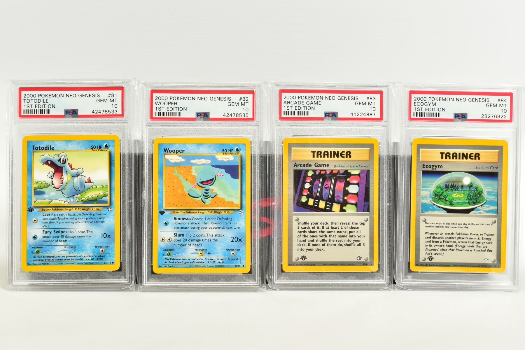 A QUANTITY OF PSA GRADED POKEMON 1ST EDITION NEO GENESIS SET CARDS, all are graded GEM MINT 10 and - Image 17 of 24