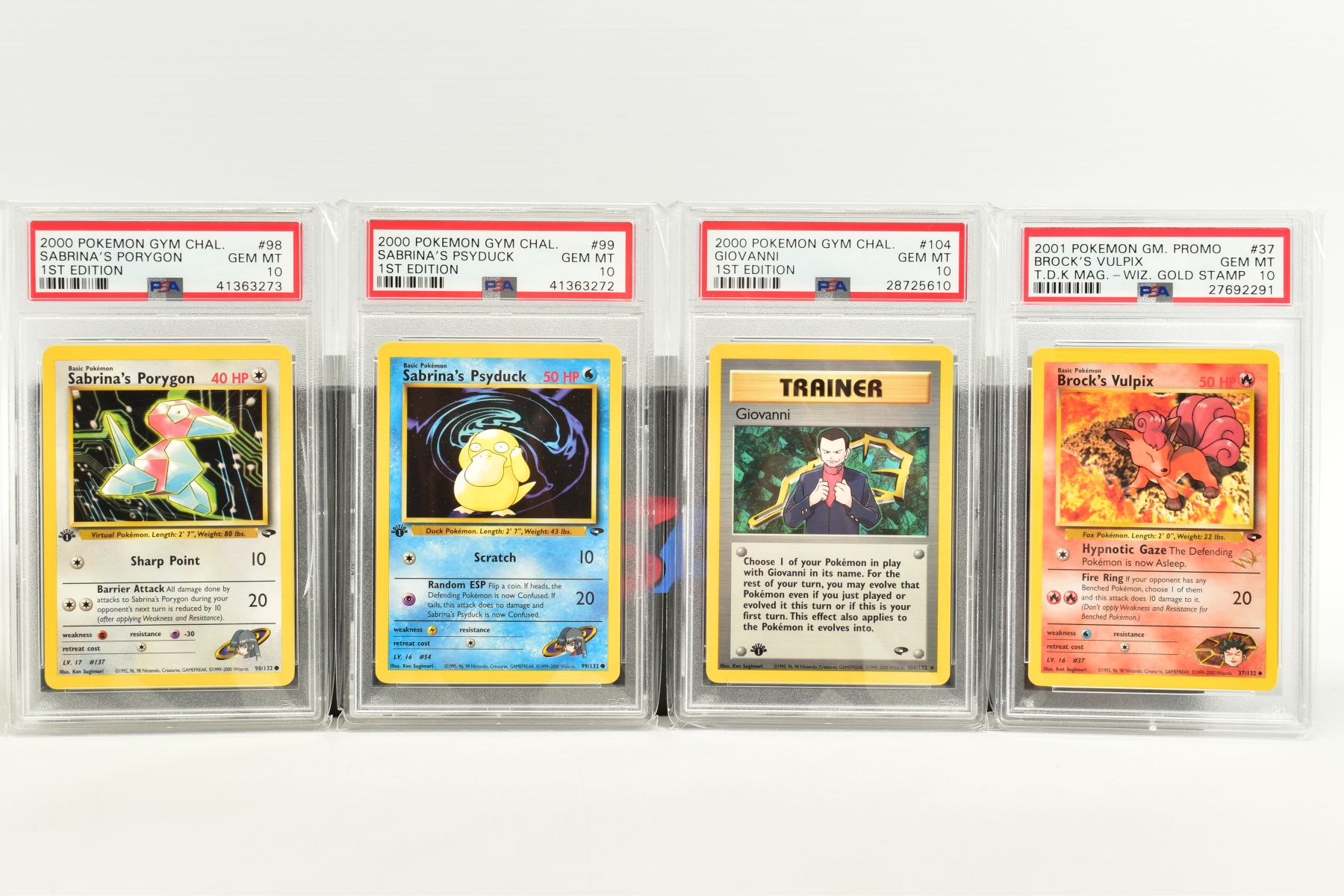 A QUANTITY OF PSA GRADED POKEMON 1ST EDITION GYM HEROES AND GYM CHALLENGE SET CARDS, all are - Image 7 of 12