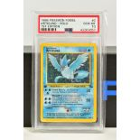 A PSA GRADED POKEMON 1ST EDITION FOSSIL SET ARTICUNO HOLO CARD, (2/62), graded GEM MINT 10 and