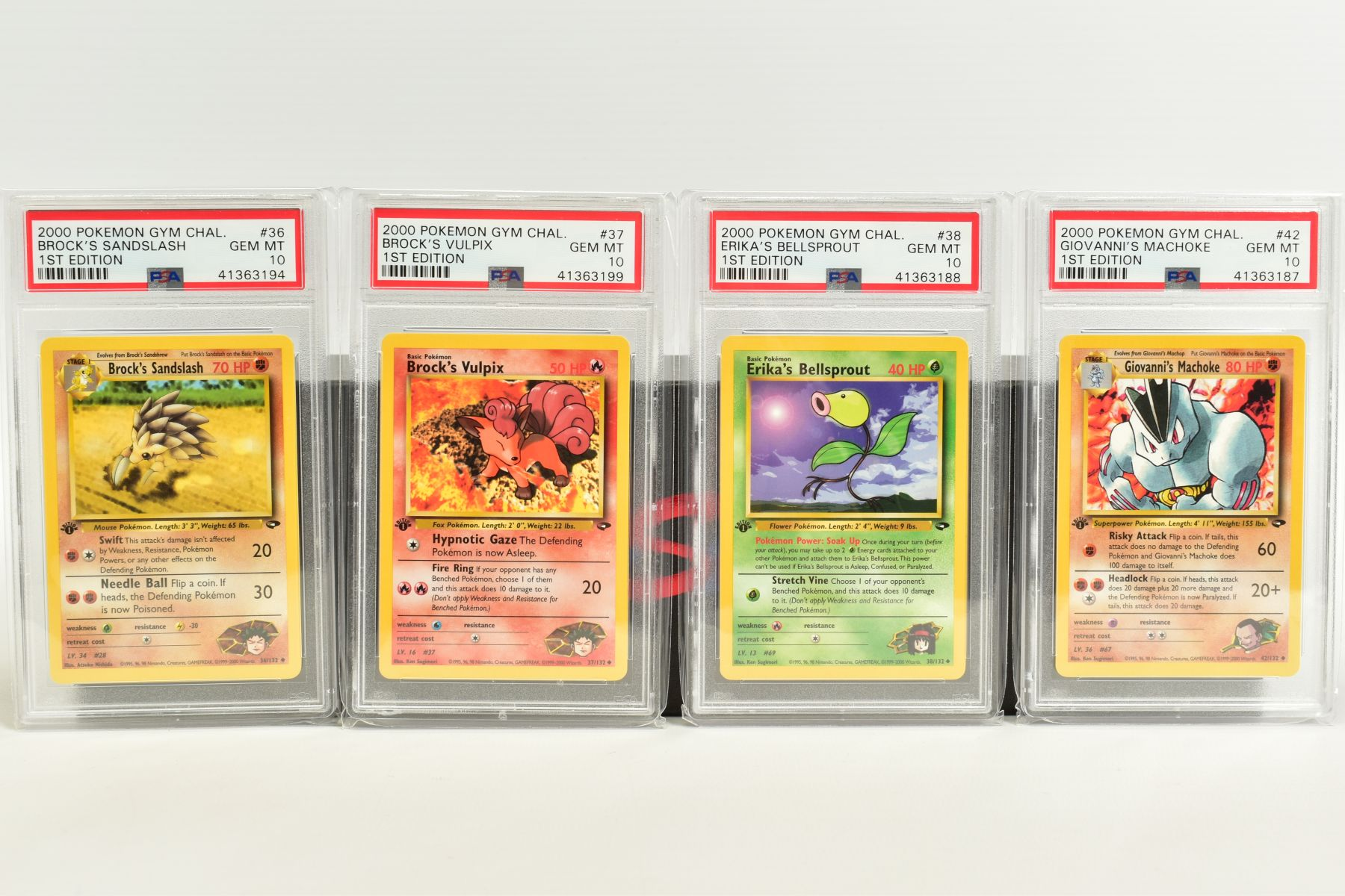 A QUANTITY OF PSA GRADED POKEMON 1ST EDITION GYM HEROES AND GYM CHALLENGE SET CARDS, all are - Image 3 of 12