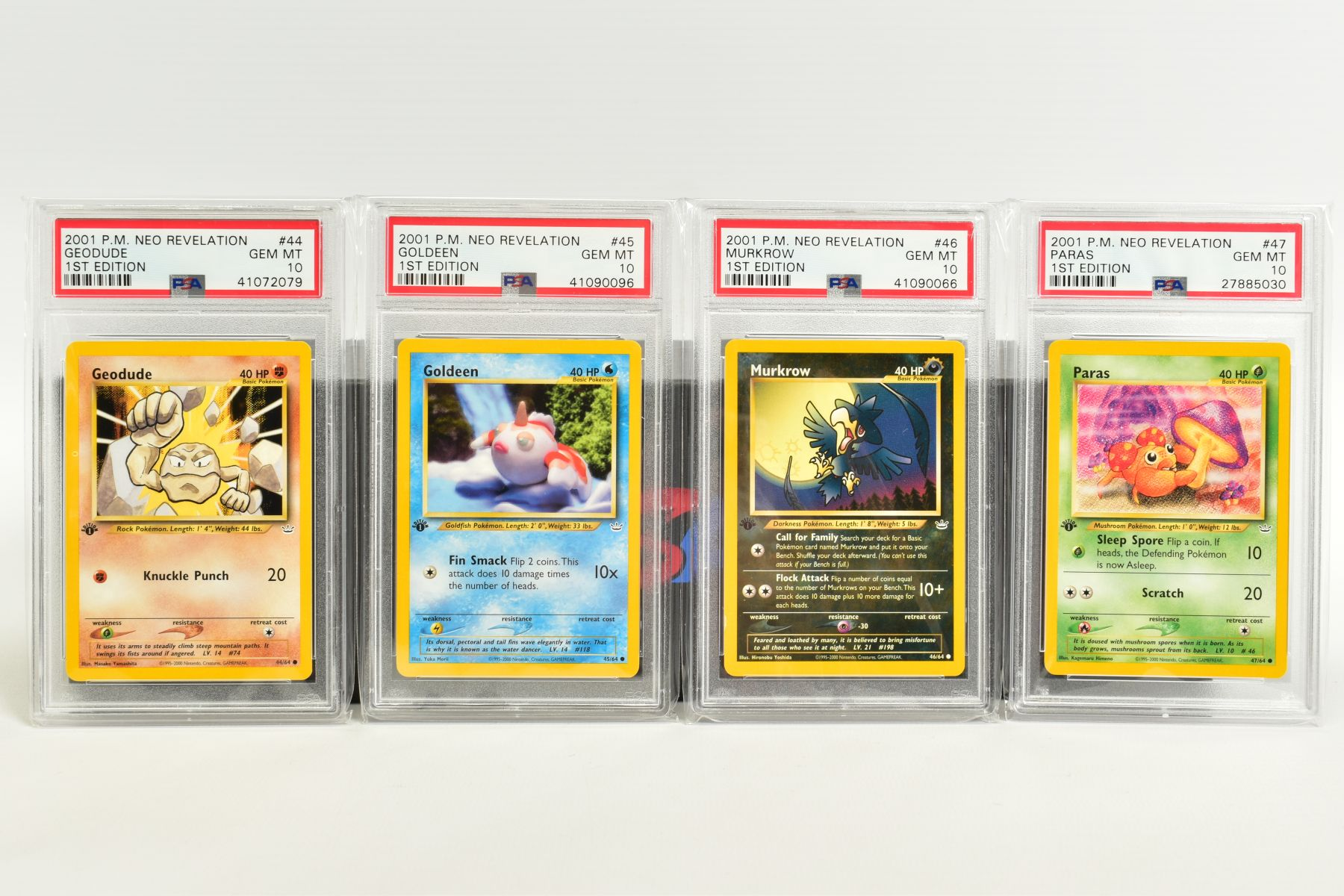 A QUANTITY OF PSA GRADED POKEMON 1ST EDITION NEO REVELATION SET CARDS, all are graded GEM MINT 10 - Image 10 of 14