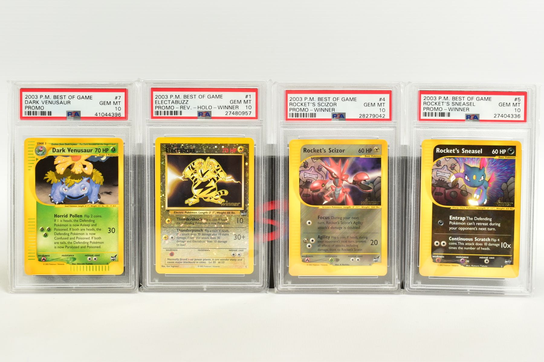 A QUANTITY OF PSA GRADED POKEMON BEST OF GAME CARDS, all are graded GEM MINT 10 and are sealed in - Image 3 of 4