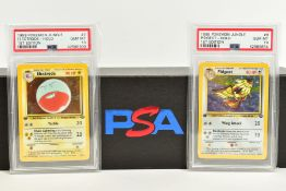 A QUANTITY OF PSA GRADED POKEMON 1ST EDITION JUNGLE SET CARDS, all are graded GEM MINT 10 and are
