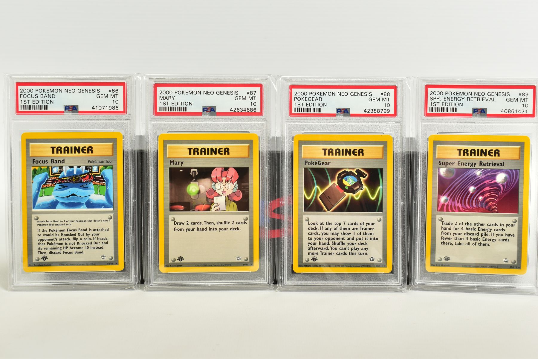 A QUANTITY OF PSA GRADED POKEMON 1ST EDITION NEO GENESIS SET CARDS, all are graded GEM MINT 10 and - Image 18 of 24