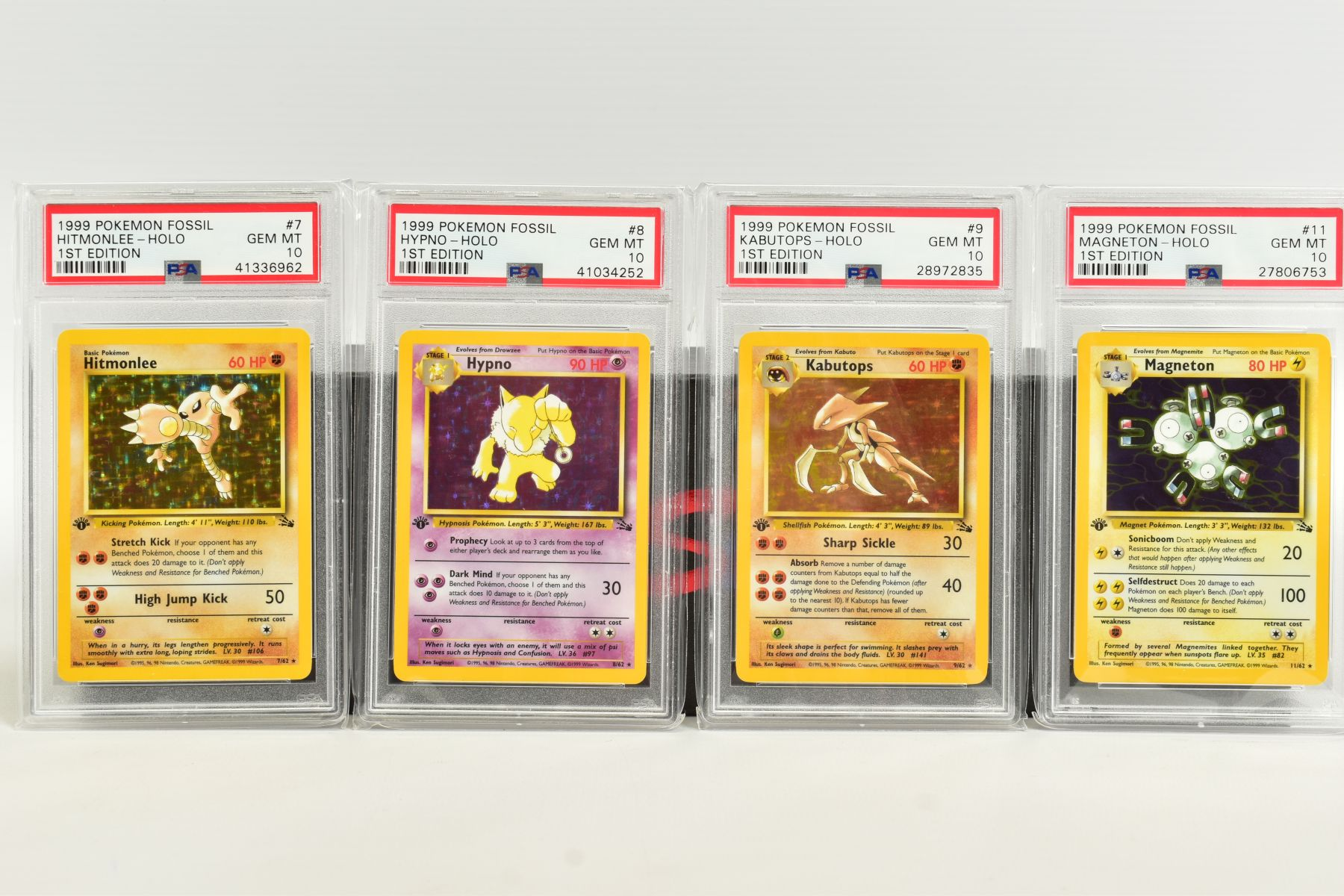 A QUANTITY OF PSA GRADED POKEMON 1ST EDITION FOSSIL SET CARDS, assorted cards between numbers 3 - Image 2 of 8