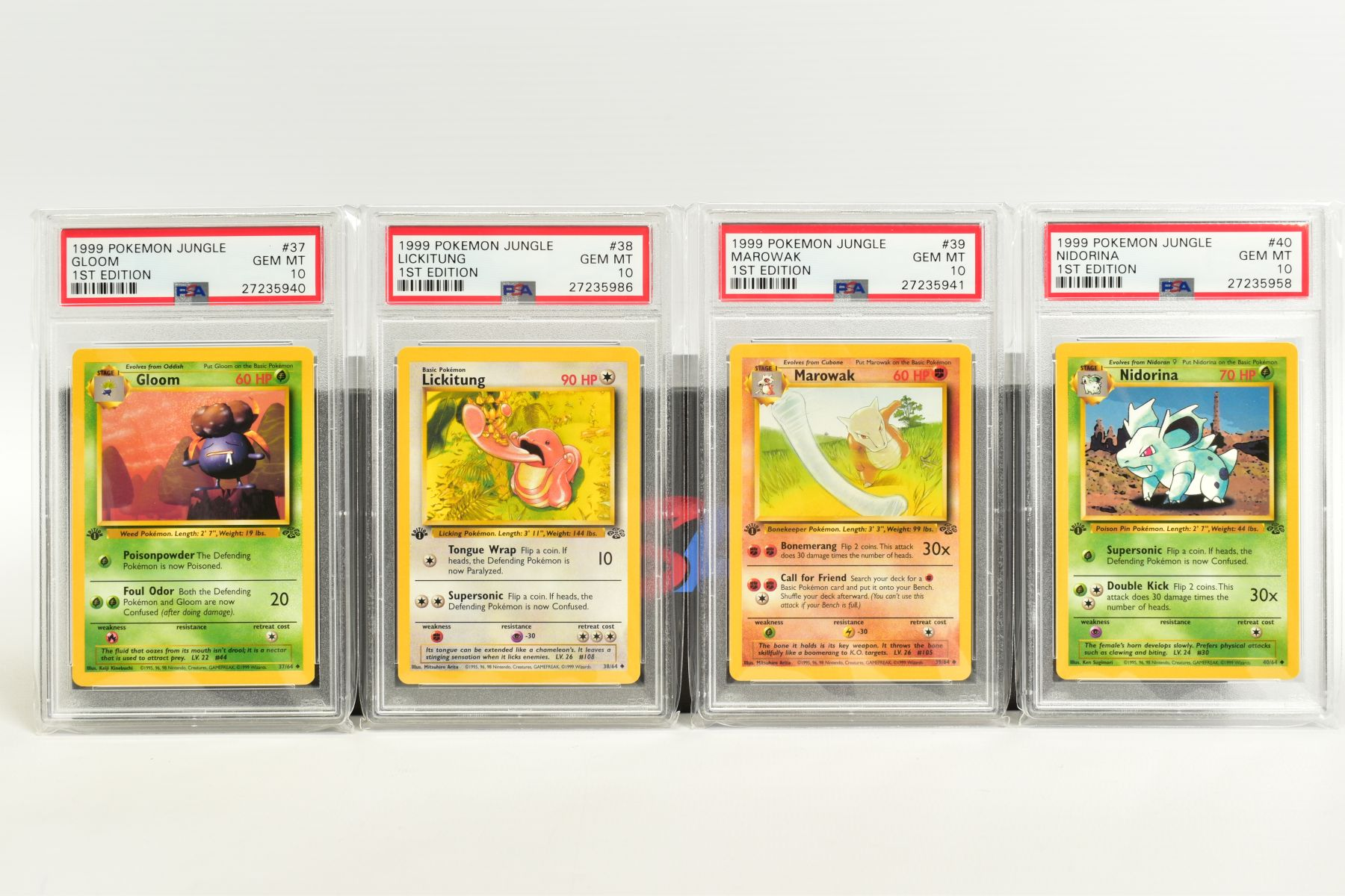 A QUANTITY OF PSA GRADED POKEMON 1ST EDITION JUNGLE SET CARDS, all are graded GEM MINT 10 and are - Image 7 of 13