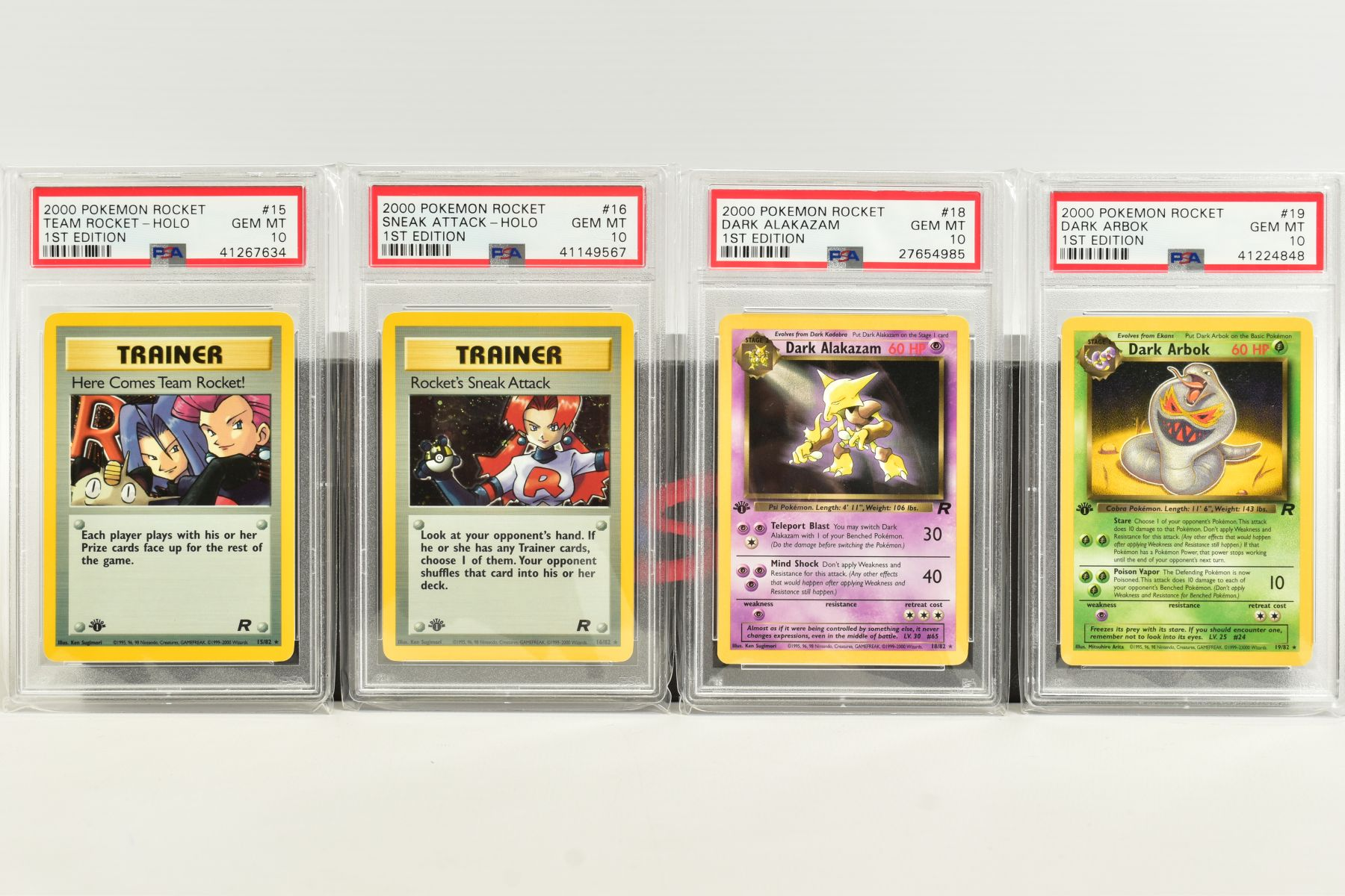 A QUANTITY OF PSA GRADED POKEMON 1ST EDITION TEAM ROCKET SET CARDS, assorted cards between numbers 1 - Image 4 of 11