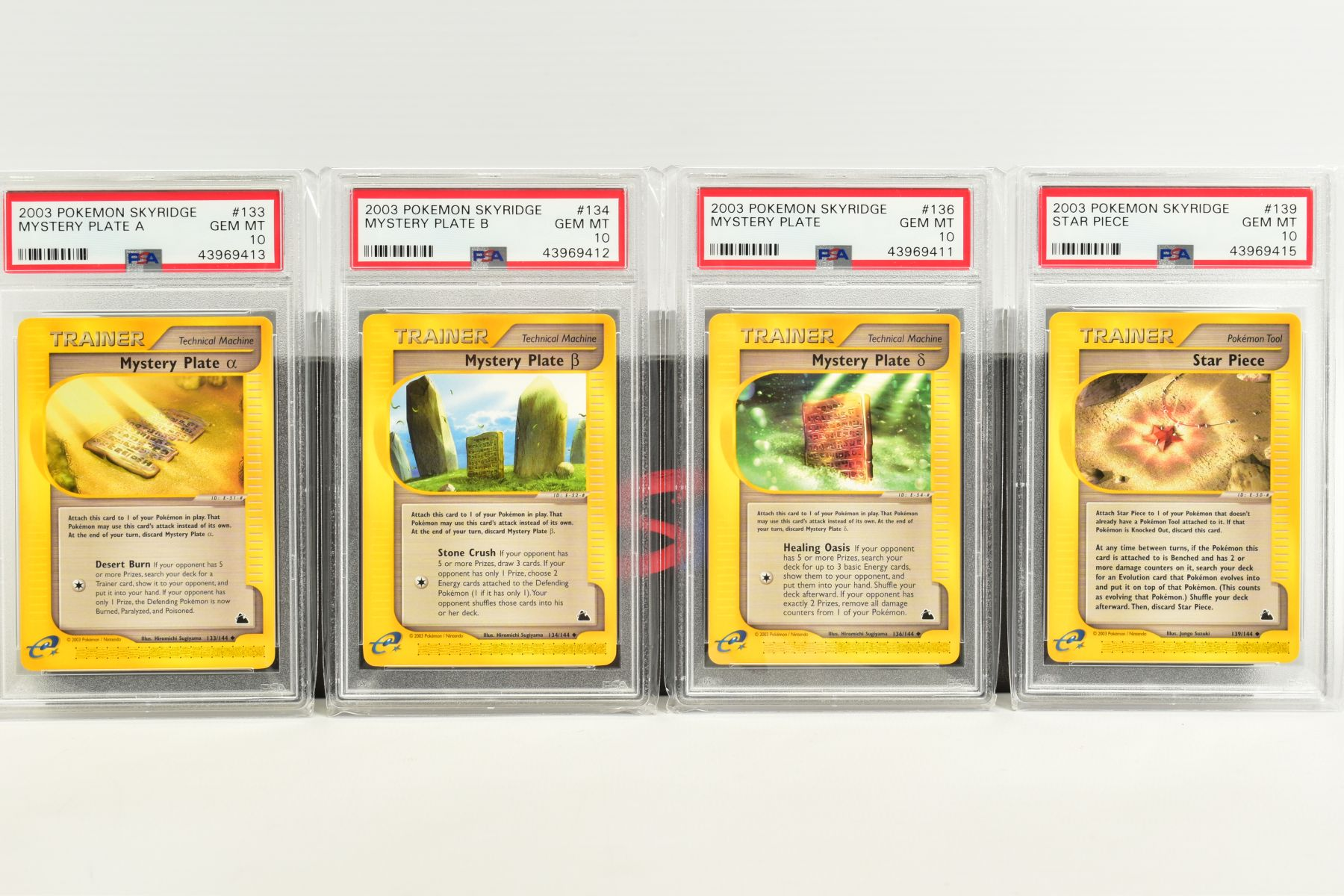 A QUANTITY OF PSA GRADED POKEMON SKYRIDGE SET CARDS, all are graded GEM MINT 10 and are sealed in - Image 8 of 9
