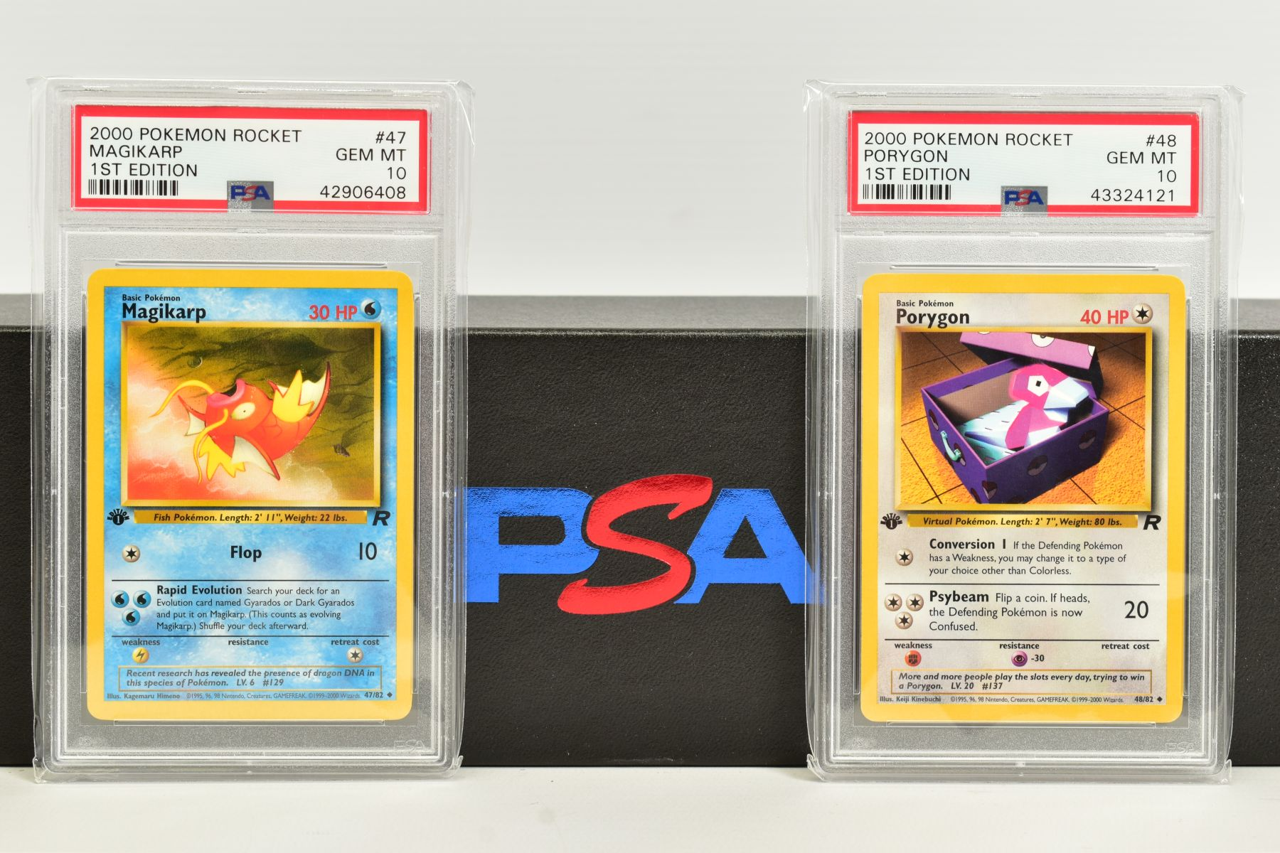 A QUANTITY OF PSA GRADED POKEMON 1ST EDITION TEAM ROCKET SET CARDS, cards number 47 to 82, Pre