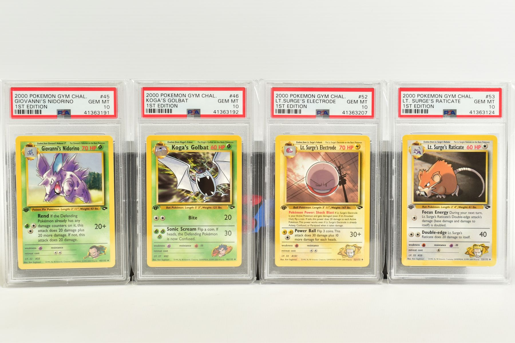 A QUANTITY OF PSA GRADED POKEMON 1ST EDITION GYM HEROES AND GYM CHALLENGE SET CARDS, all are - Image 4 of 12