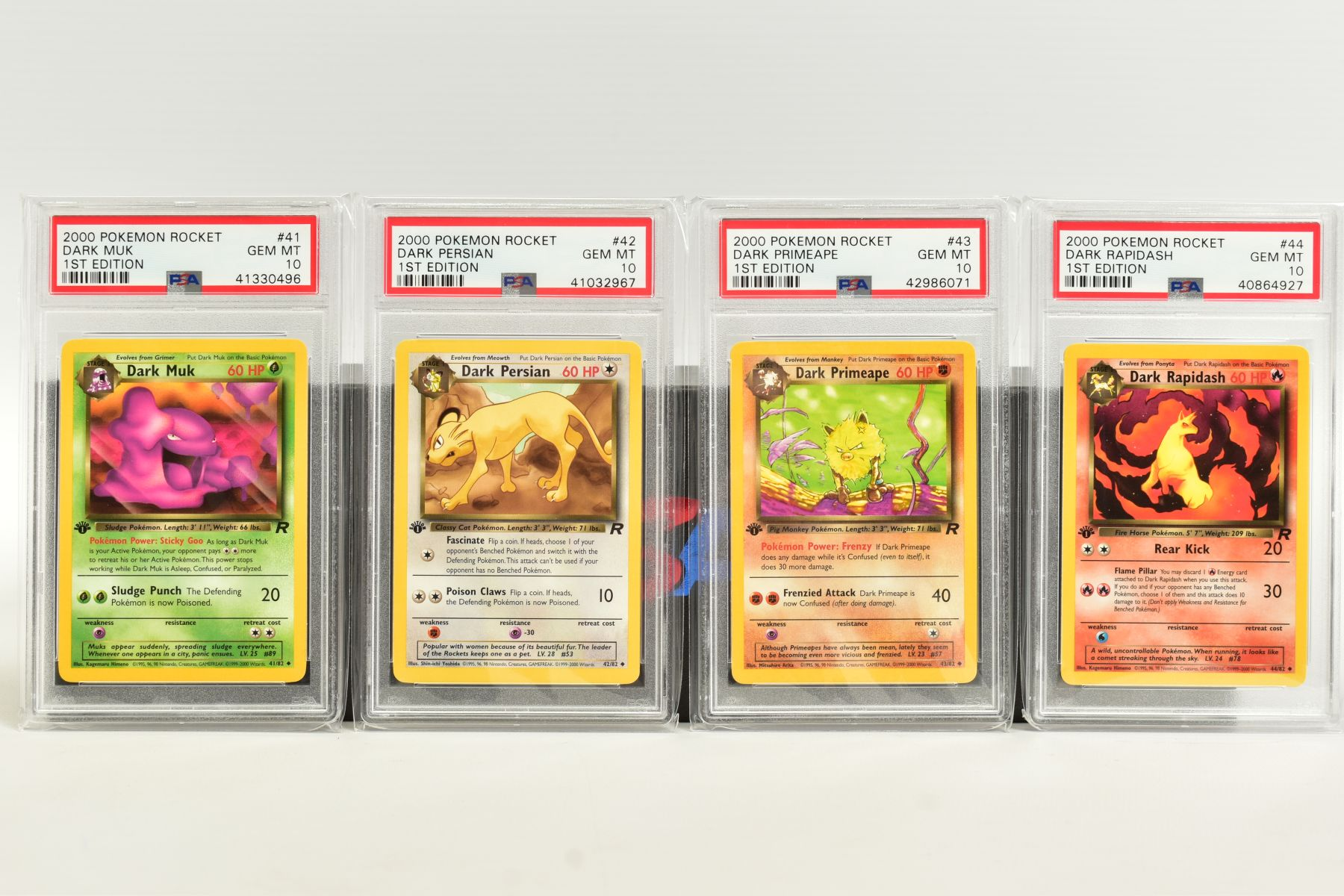 A QUANTITY OF PSA GRADED POKEMON 1ST EDITION TEAM ROCKET SET CARDS, assorted cards between numbers 1 - Image 10 of 11