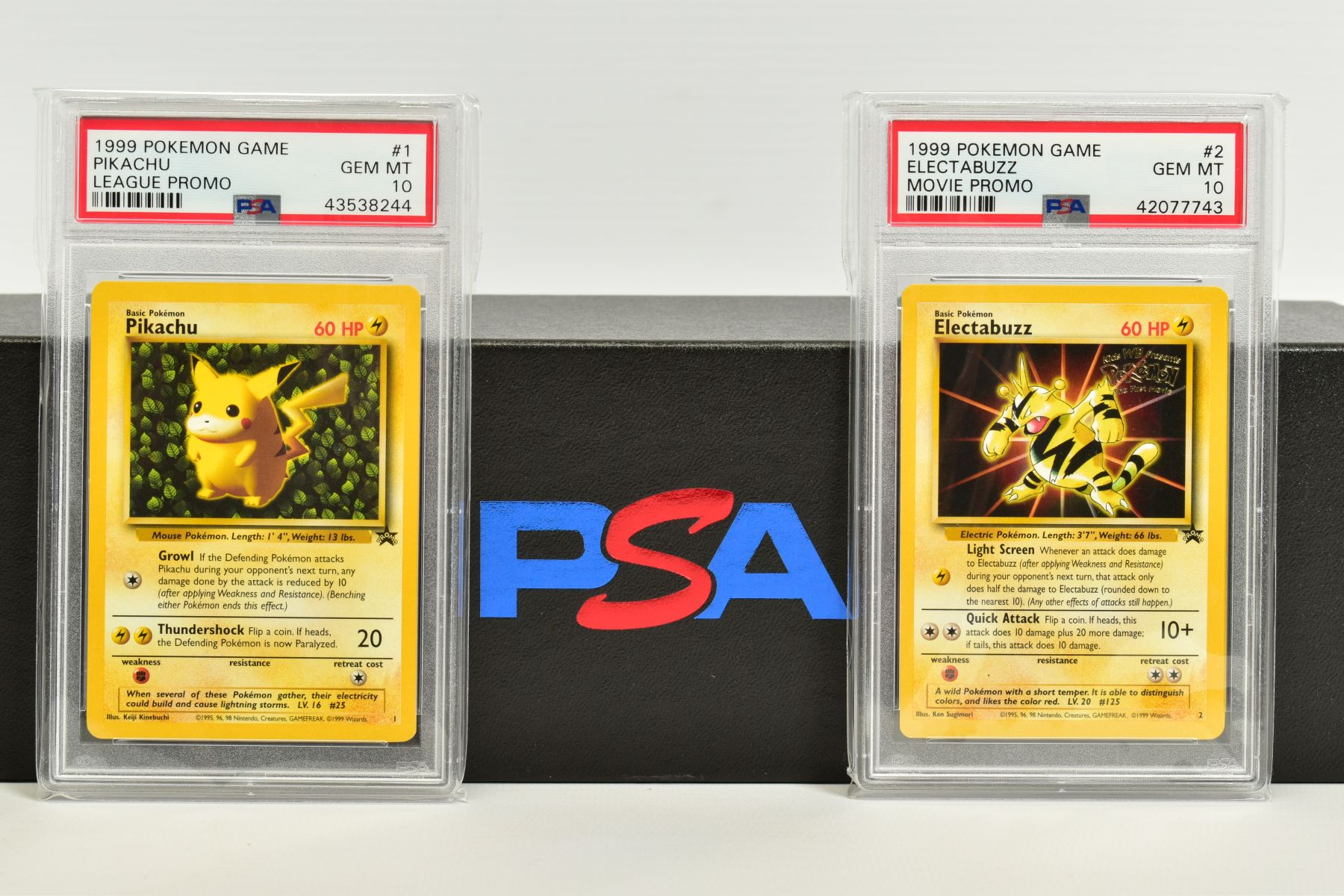 A QUANTITY OF PSA GRADED WIZARDS OF THE COAST POKEMON BLACK STAR PROMO CARDS, all date from 1999