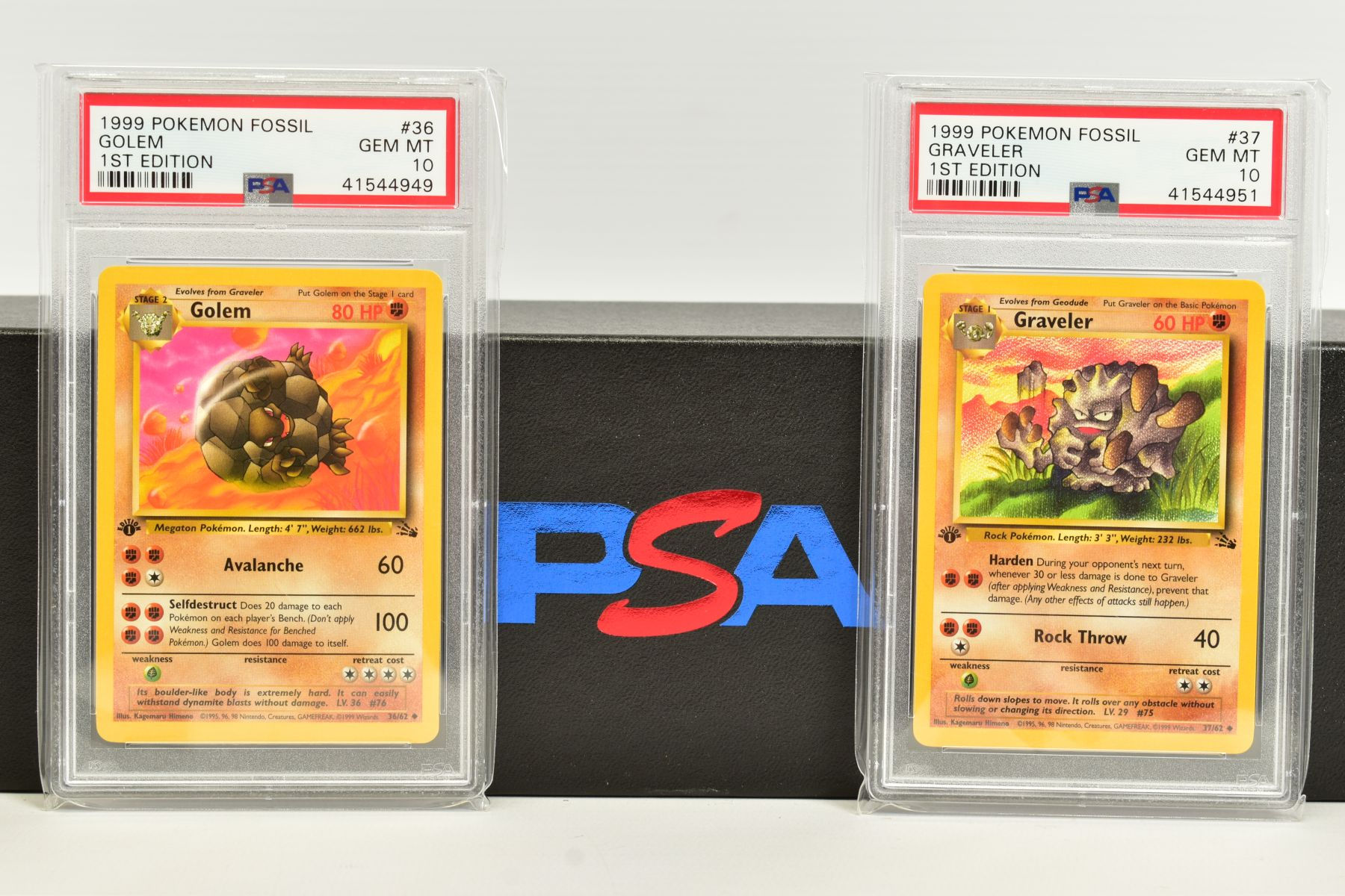 A QUANTITY OF PSA GRADED POKEMON 1ST EDITION FOSSIL SET CARDS, cards number 36 to 62 and Kabuto