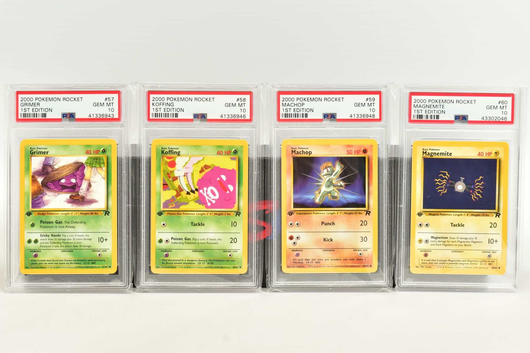 A QUANTITY OF PSA GRADED POKEMON 1ST EDITION TEAM ROCKET SET CARDS, cards number 47 to 82, Pre - Image 4 of 11