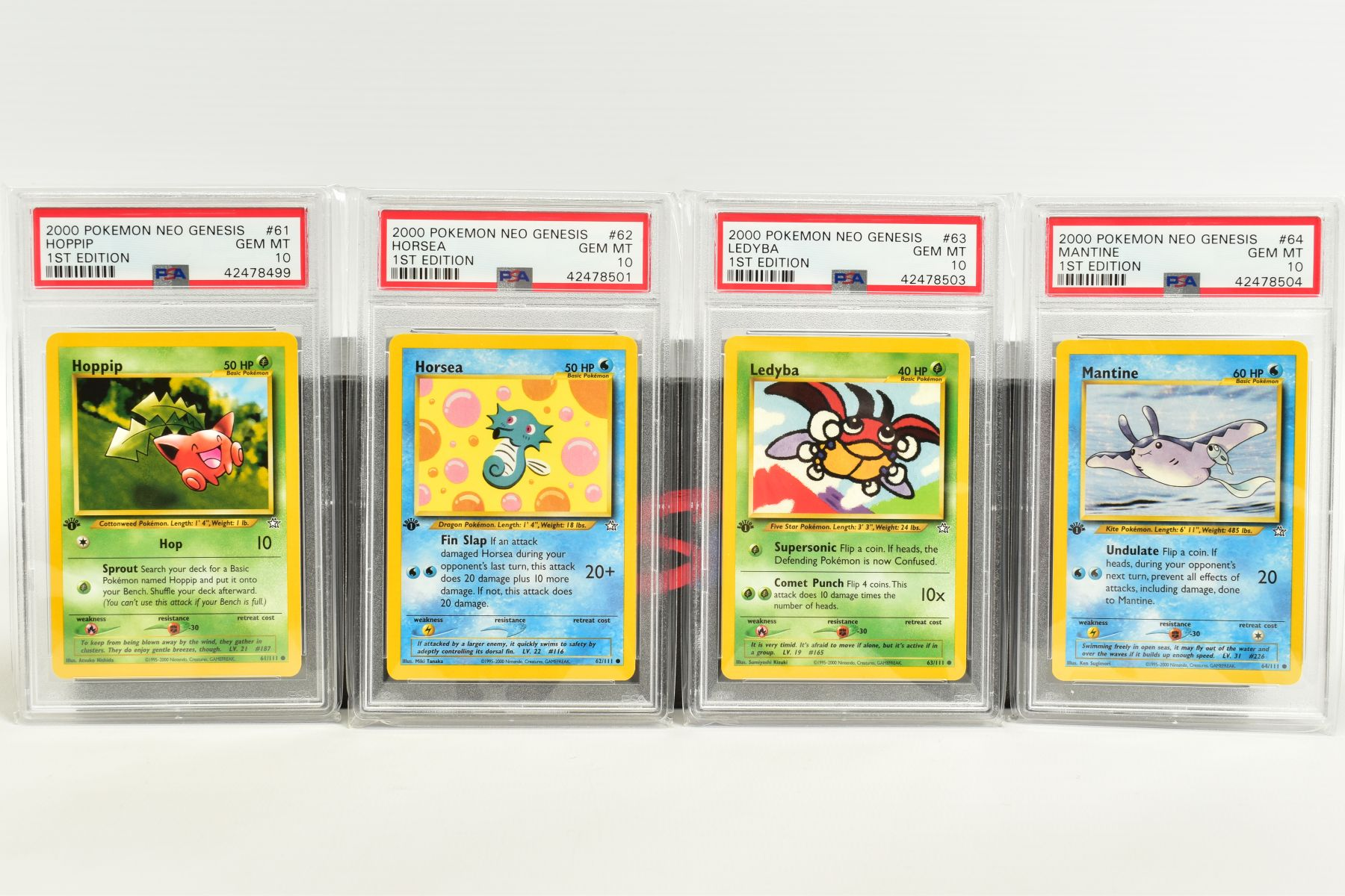 A QUANTITY OF PSA GRADED POKEMON 1ST EDITION NEO GENESIS SET CARDS, all are graded GEM MINT 10 and - Image 12 of 24