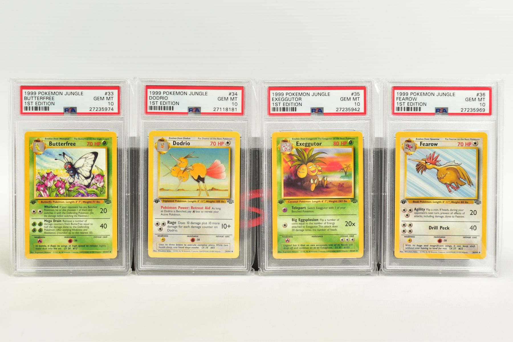 A QUANTITY OF PSA GRADED POKEMON 1ST EDITION JUNGLE SET CARDS, all are graded GEM MINT 10 and are - Image 6 of 13