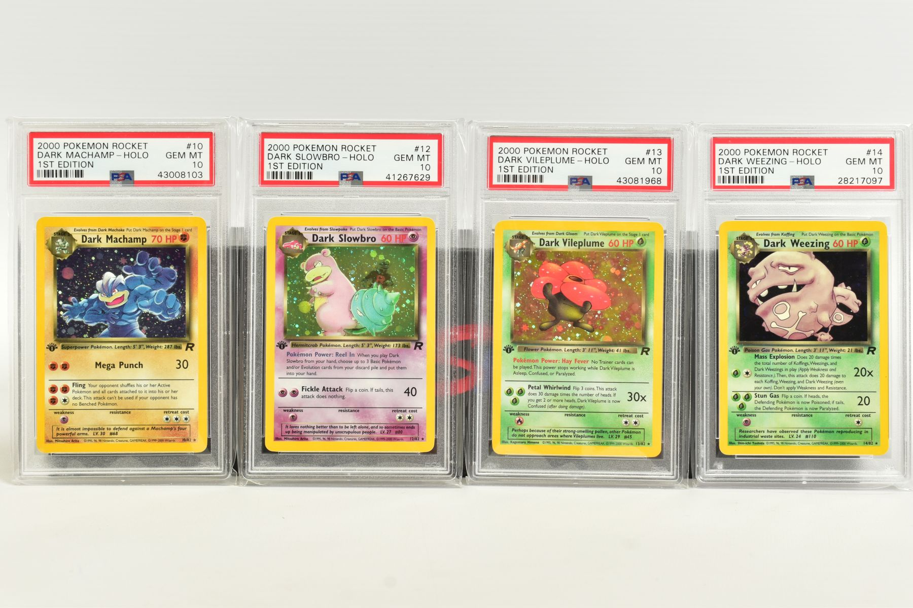 A QUANTITY OF PSA GRADED POKEMON 1ST EDITION TEAM ROCKET SET CARDS, assorted cards between numbers 1 - Image 3 of 11