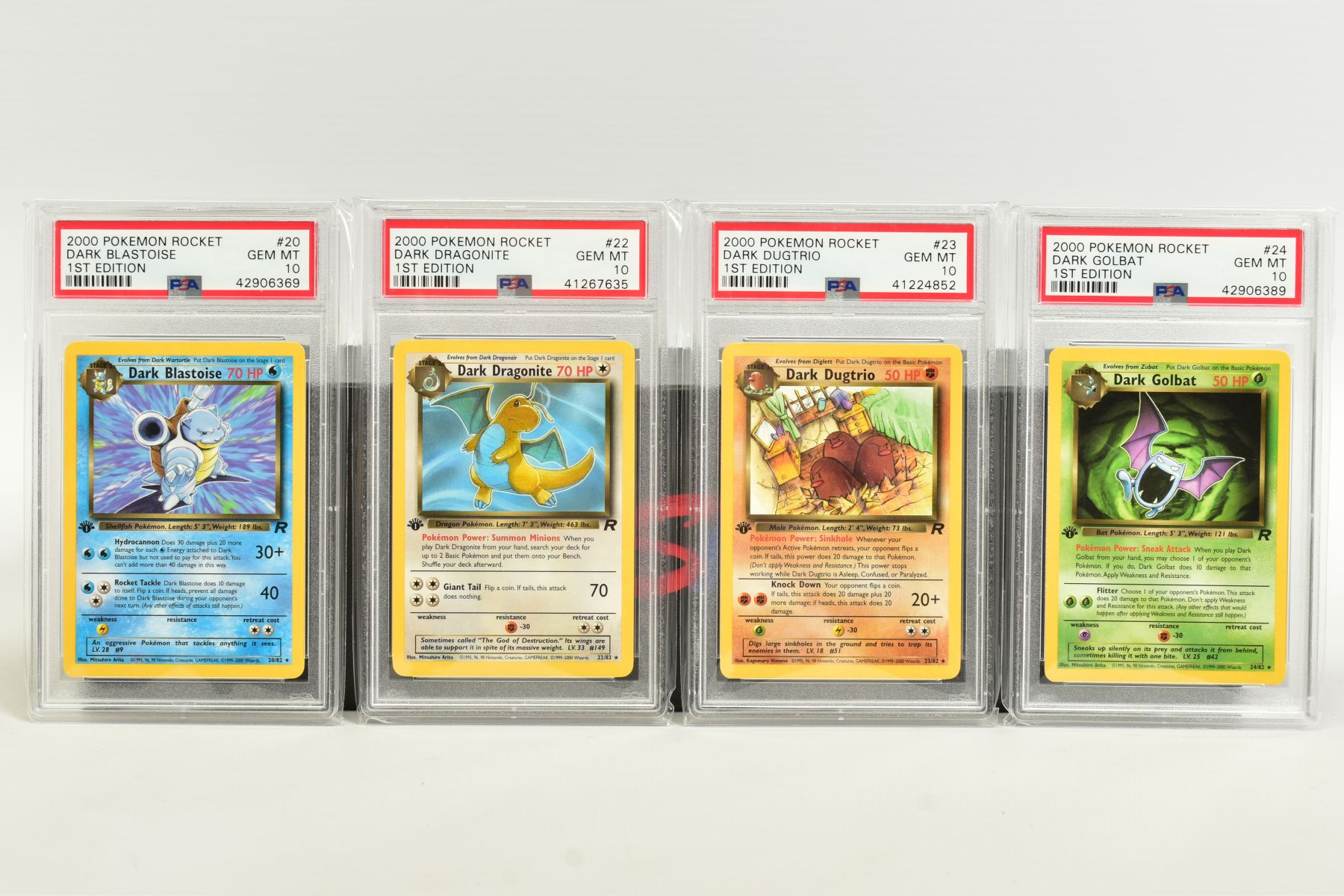 A QUANTITY OF PSA GRADED POKEMON 1ST EDITION TEAM ROCKET SET CARDS, assorted cards between numbers 1 - Image 5 of 11