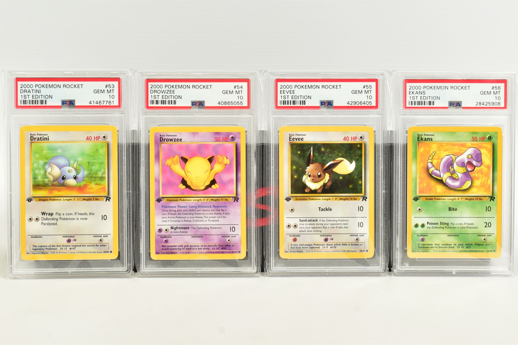 A QUANTITY OF PSA GRADED POKEMON 1ST EDITION TEAM ROCKET SET CARDS, cards number 47 to 82, Pre - Image 3 of 11