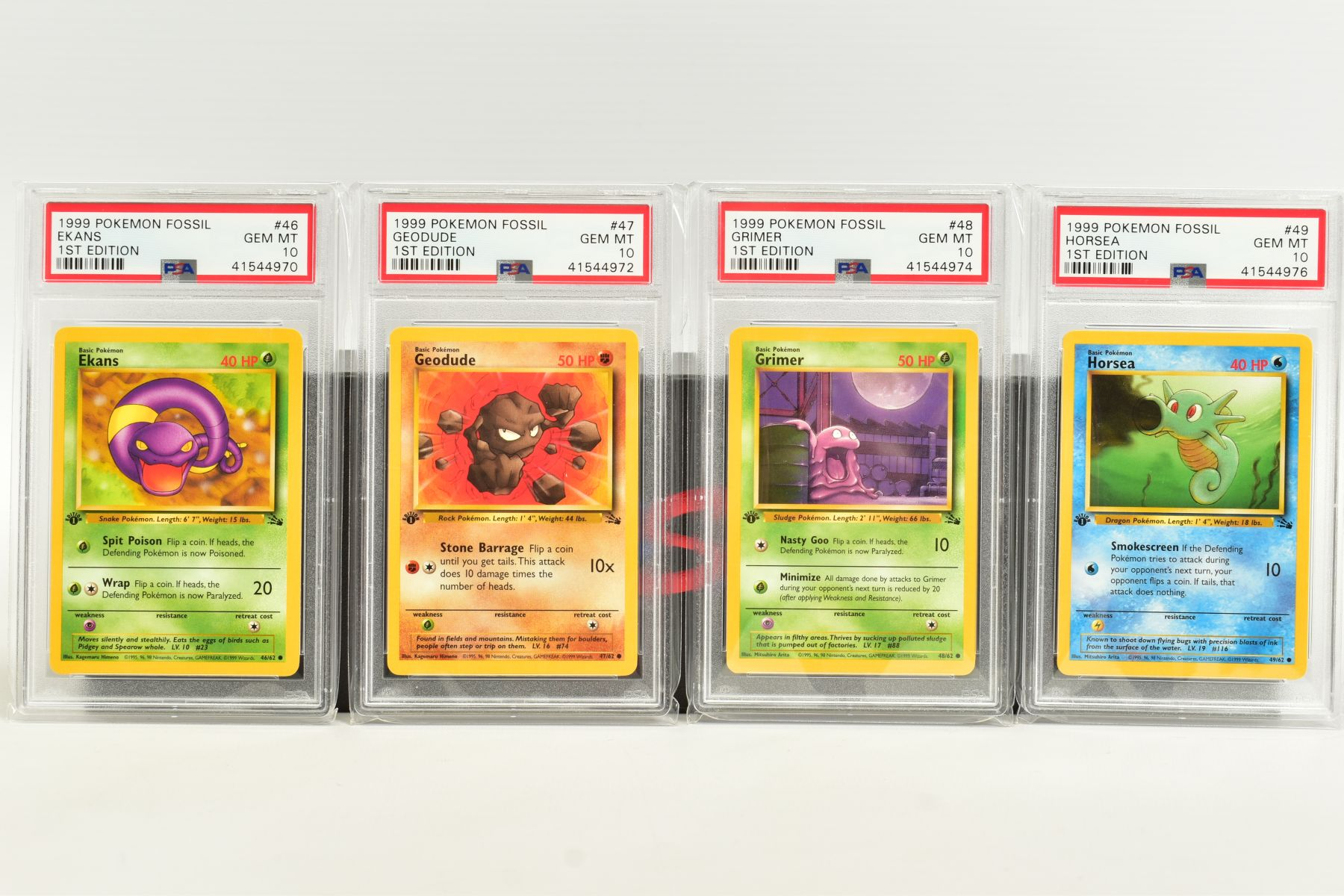 A QUANTITY OF PSA GRADED POKEMON 1ST EDITION FOSSIL SET CARDS, cards number 36 to 62 and Kabuto - Image 4 of 8