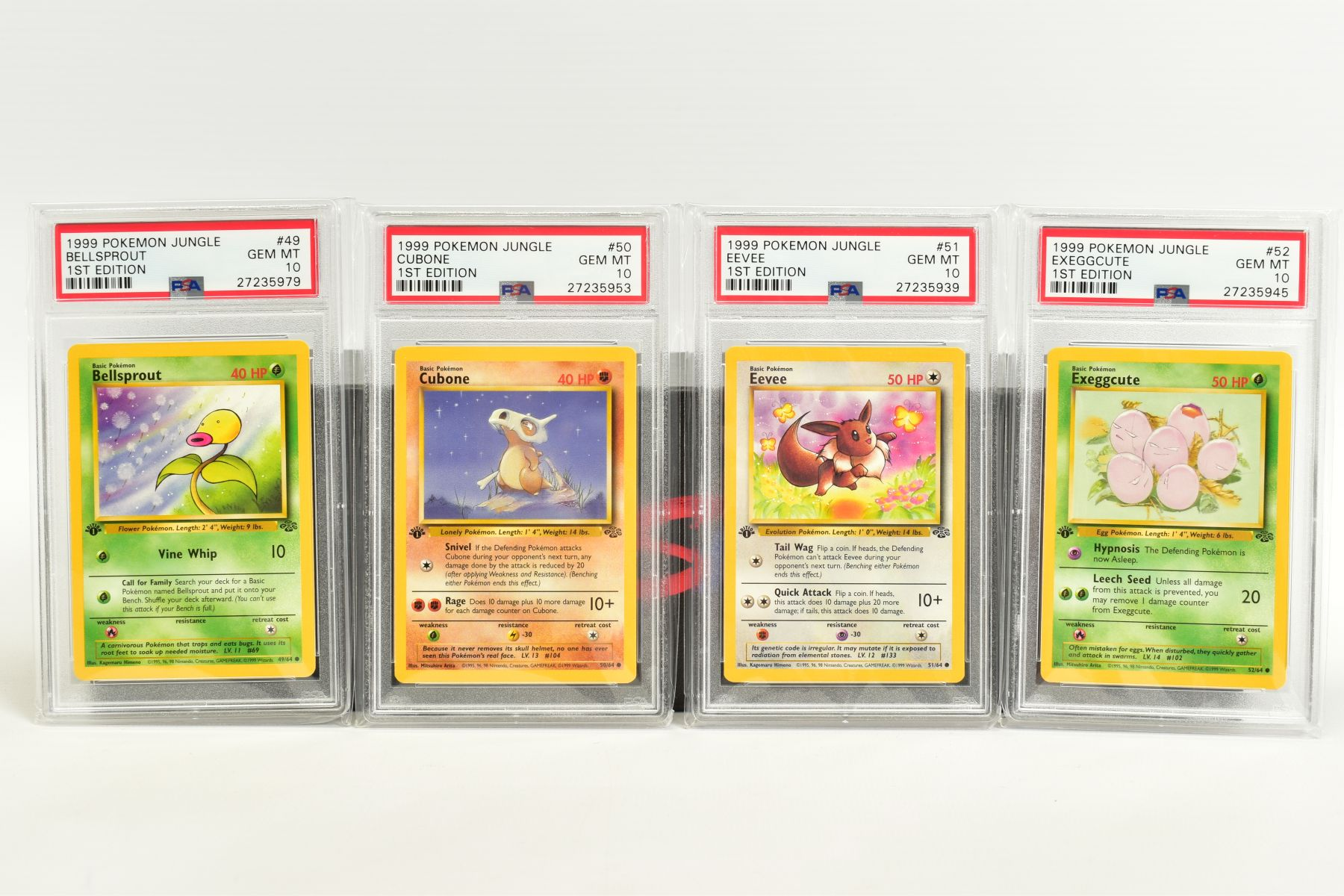 A QUANTITY OF PSA GRADED POKEMON 1ST EDITION JUNGLE SET CARDS, all are graded GEM MINT 10 and are - Image 10 of 13