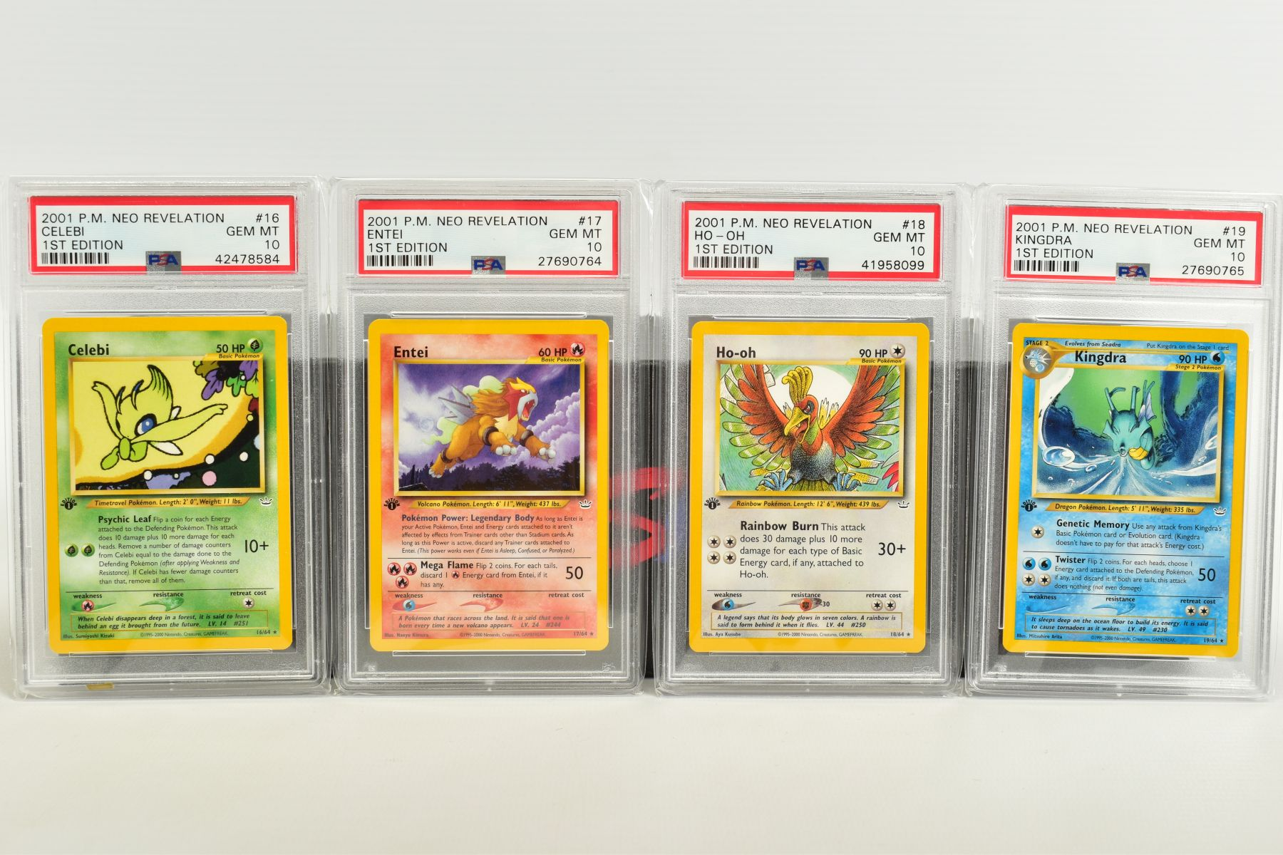 A QUANTITY OF PSA GRADED POKEMON 1ST EDITION NEO REVELATION SET CARDS, all are graded GEM MINT 10 - Image 3 of 14