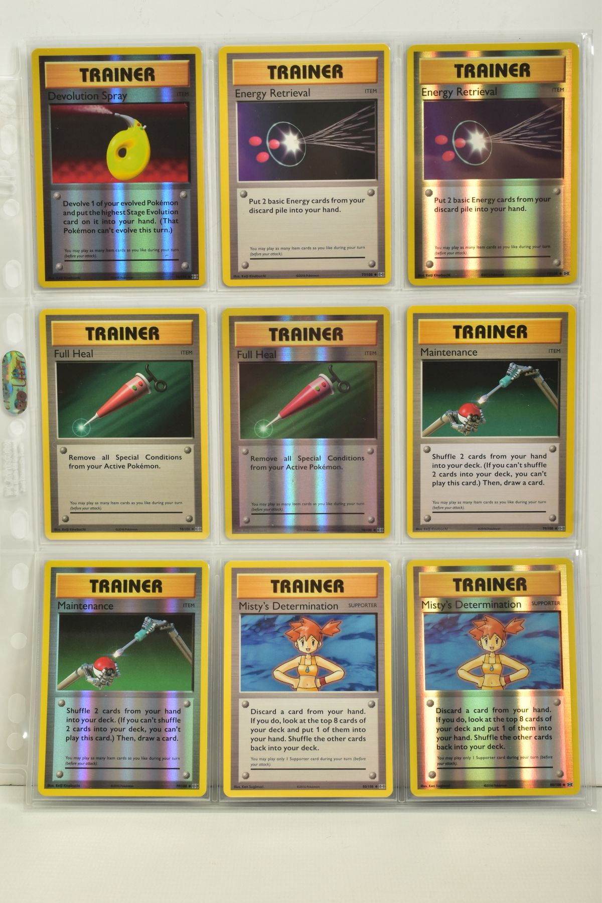 A COLLECTION OF ASSORTED POKEMON CARDS, to include complete master sets of XY Breakpoint, XY Roaring - Image 102 of 108