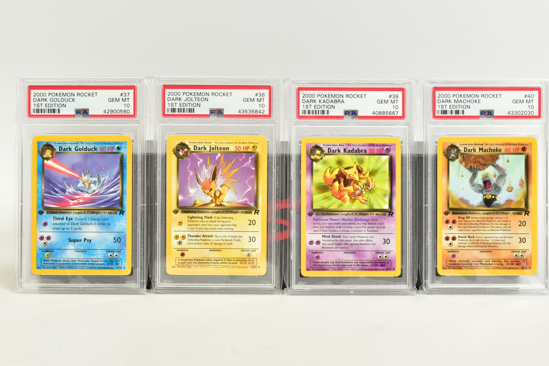 A QUANTITY OF PSA GRADED POKEMON 1ST EDITION TEAM ROCKET SET CARDS, assorted cards between numbers 1 - Image 9 of 11