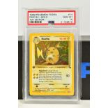 A PSA GRADED POKEMON 1ST EDITION FOSSIL SET RAICHU HOLO CARD, (14/62), graded GEM MINT 10 and sealed