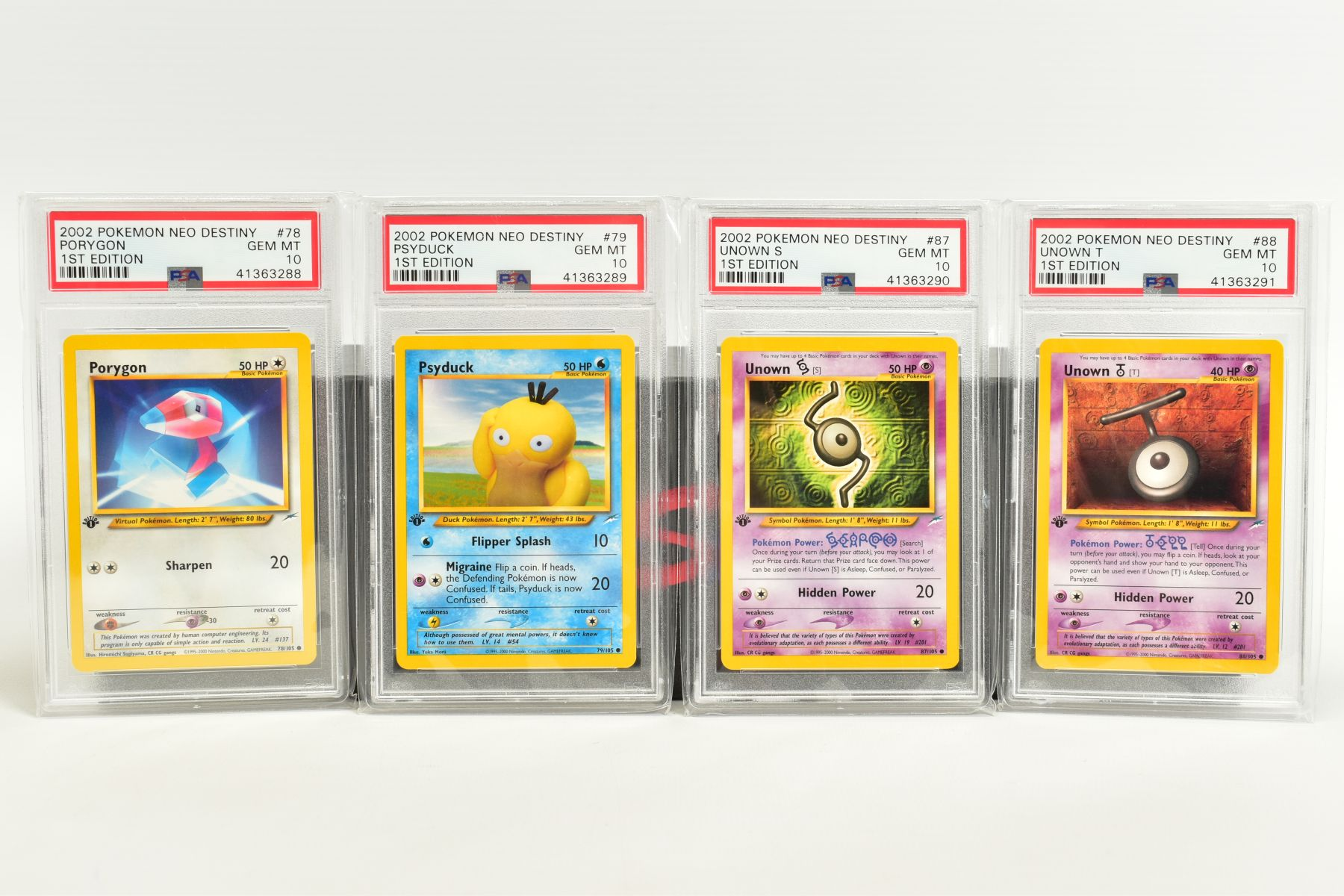 A QUANTITY OF PSA GRADED POKEMON 1ST EDITION NEO DESTINY SET CARDS, all are graded GEM MINT 10 and - Image 6 of 7