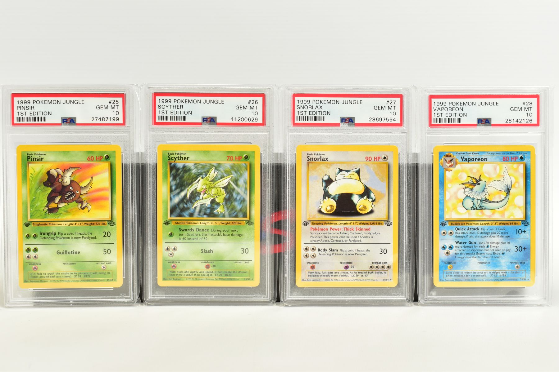 A QUANTITY OF PSA GRADED POKEMON 1ST EDITION JUNGLE SET CARDS, all are graded GEM MINT 10 and are - Image 4 of 13