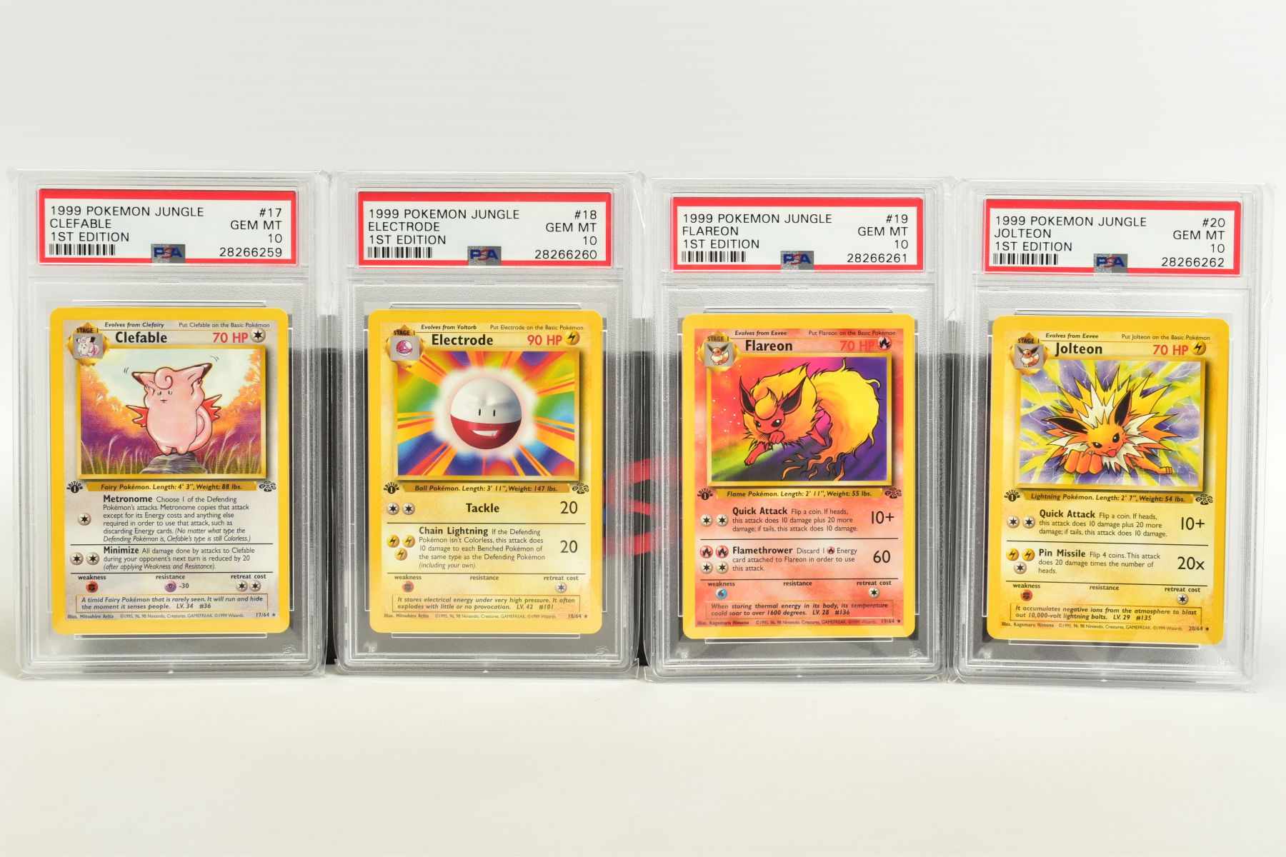 A QUANTITY OF PSA GRADED POKEMON 1ST EDITION JUNGLE SET CARDS, all are graded GEM MINT 10 and are - Image 2 of 13