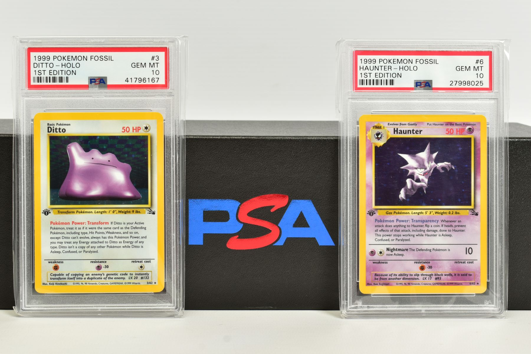 A QUANTITY OF PSA GRADED POKEMON 1ST EDITION FOSSIL SET CARDS, assorted cards between numbers 3