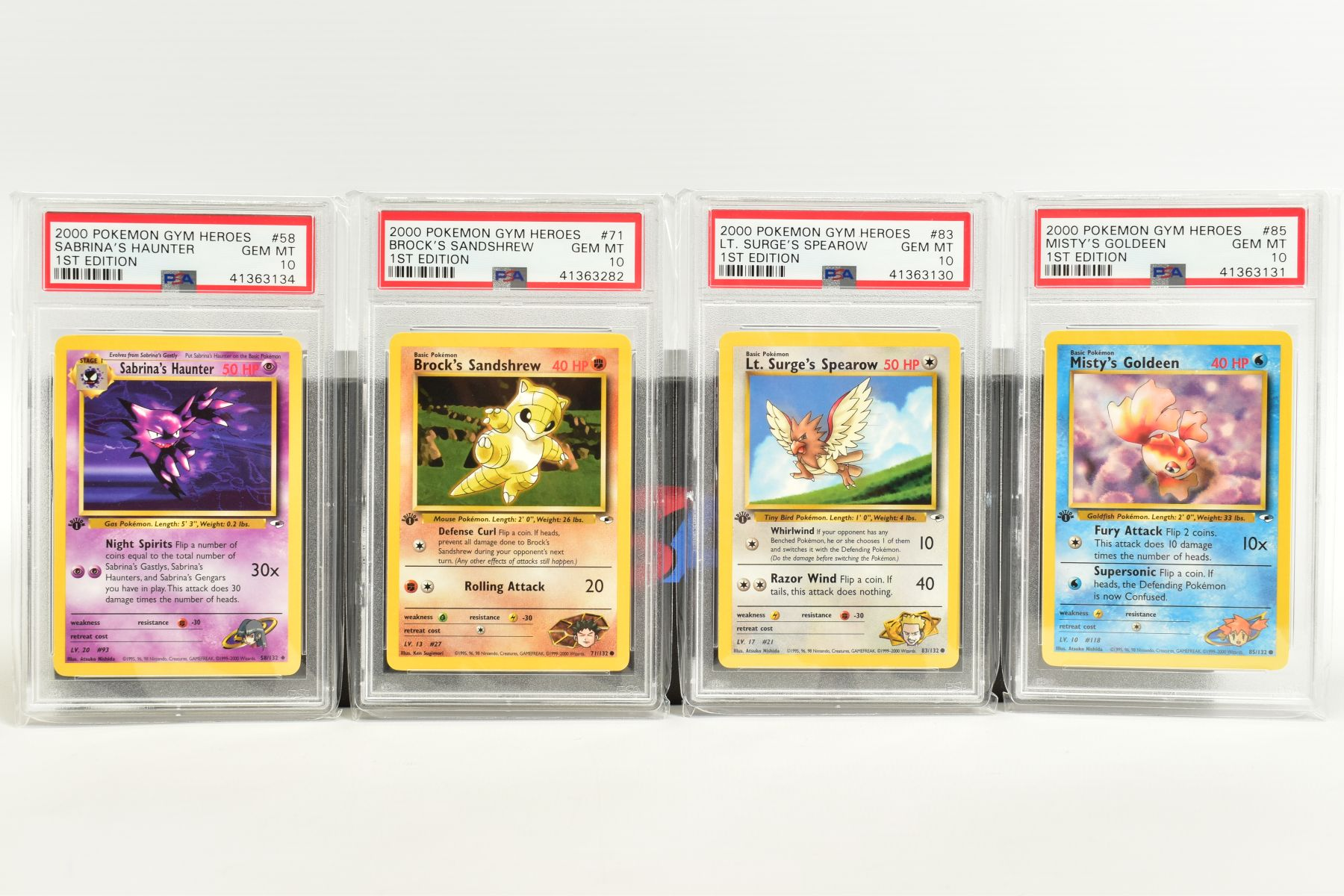 A QUANTITY OF PSA GRADED POKEMON 1ST EDITION GYM HEROES AND GYM CHALLENGE SET CARDS, all are - Image 9 of 12