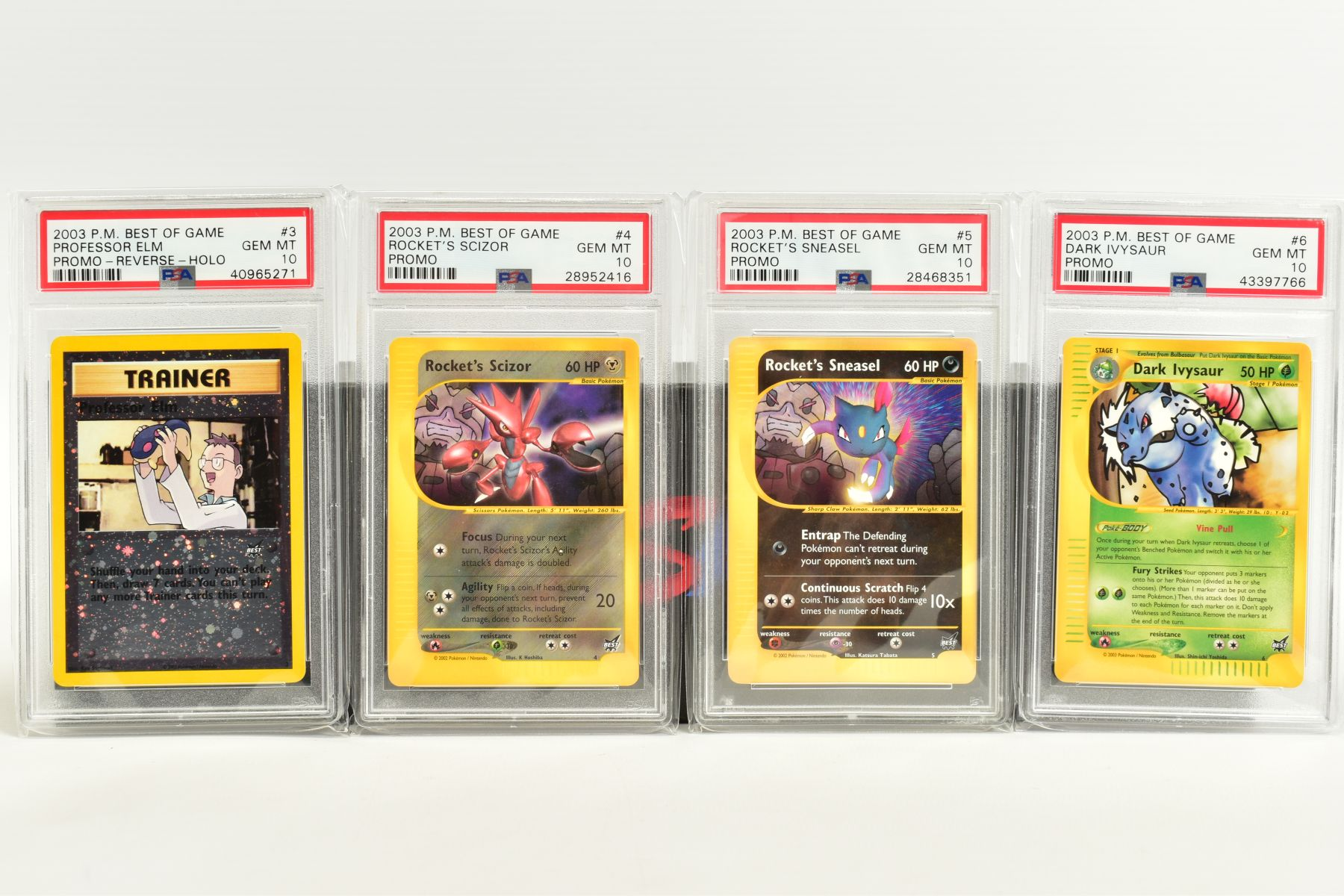 A QUANTITY OF PSA GRADED POKEMON BEST OF GAME CARDS, all are graded GEM MINT 10 and are sealed in - Image 2 of 4