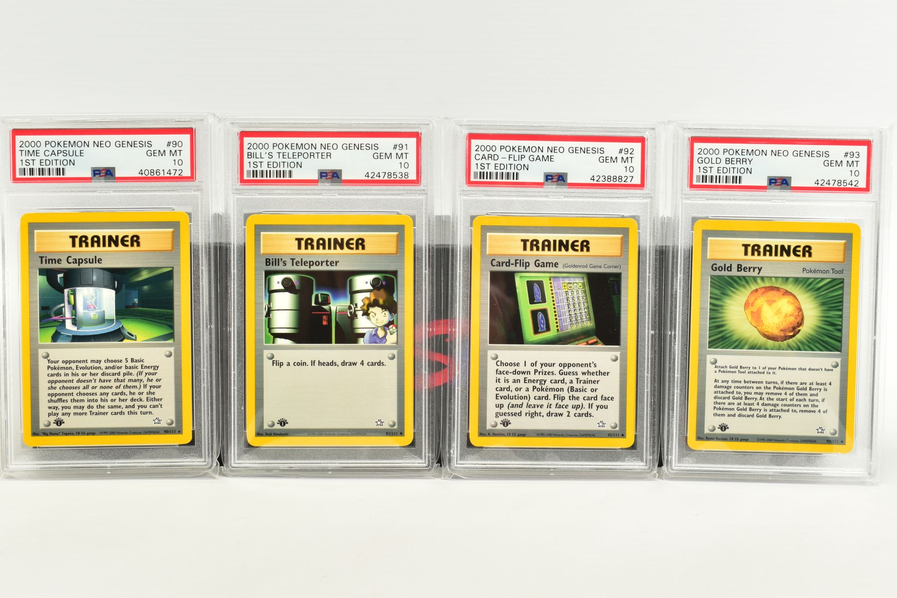 A QUANTITY OF PSA GRADED POKEMON 1ST EDITION NEO GENESIS SET CARDS, all are graded GEM MINT 10 and - Image 19 of 24