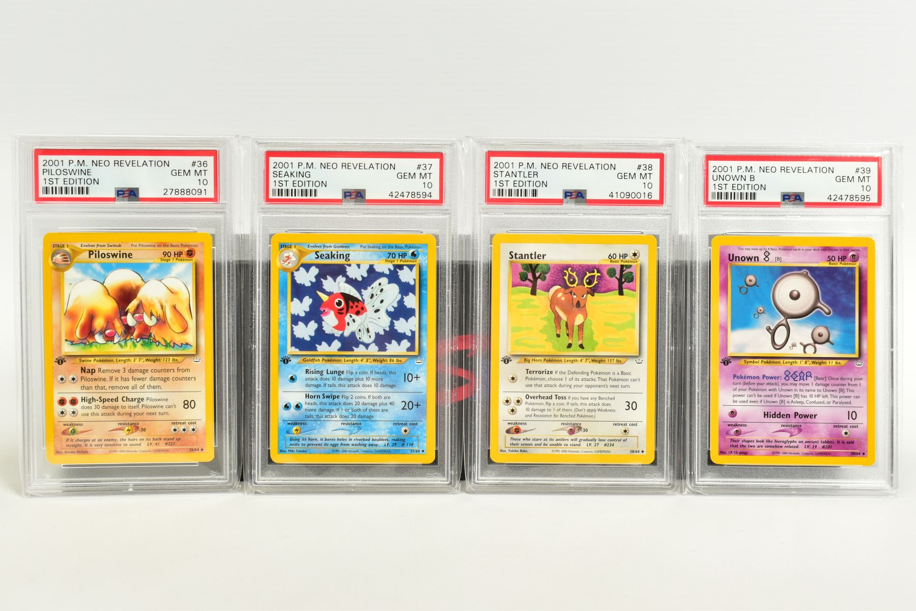 A QUANTITY OF PSA GRADED POKEMON 1ST EDITION NEO REVELATION SET CARDS, all are graded GEM MINT 10 - Image 8 of 14