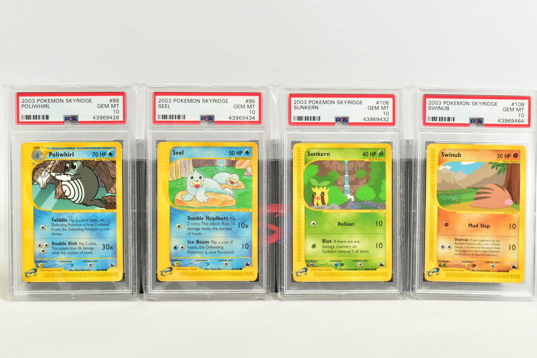 A QUANTITY OF PSA GRADED POKEMON SKYRIDGE SET CARDS, all are graded GEM MINT 10 and are sealed in - Image 5 of 9
